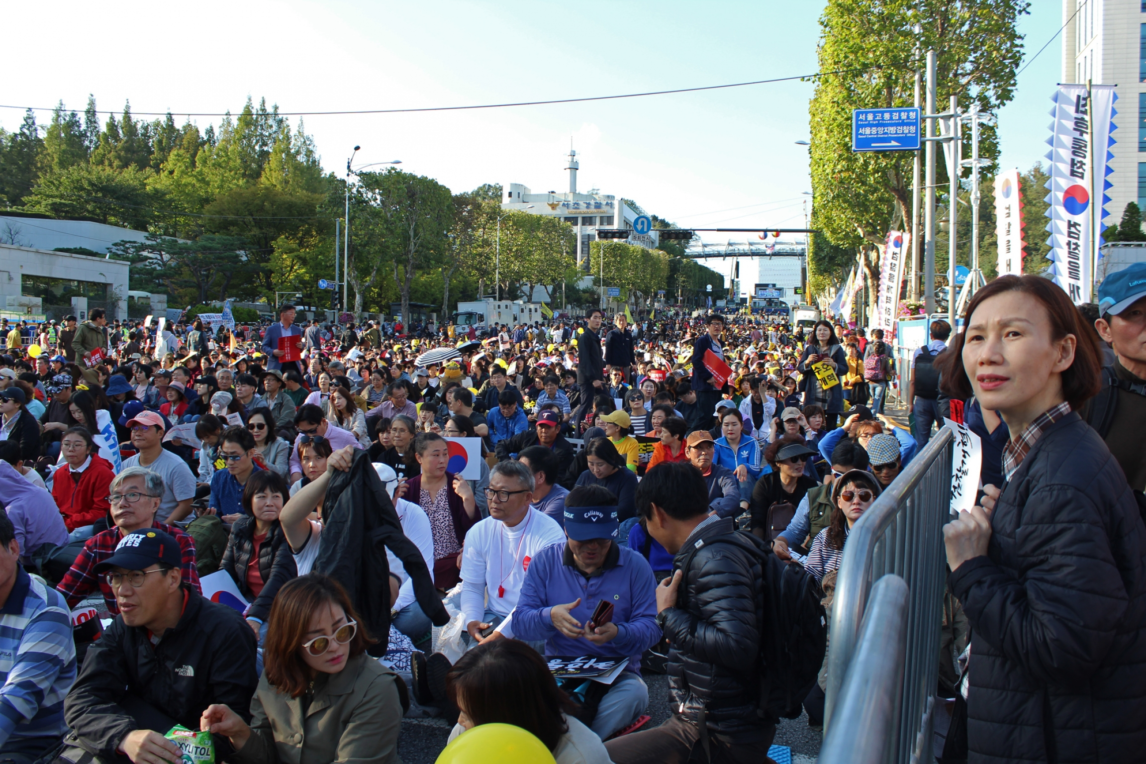 Mass protest in South Korea