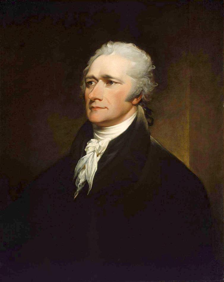 A portrait of Alexander Hamilton.