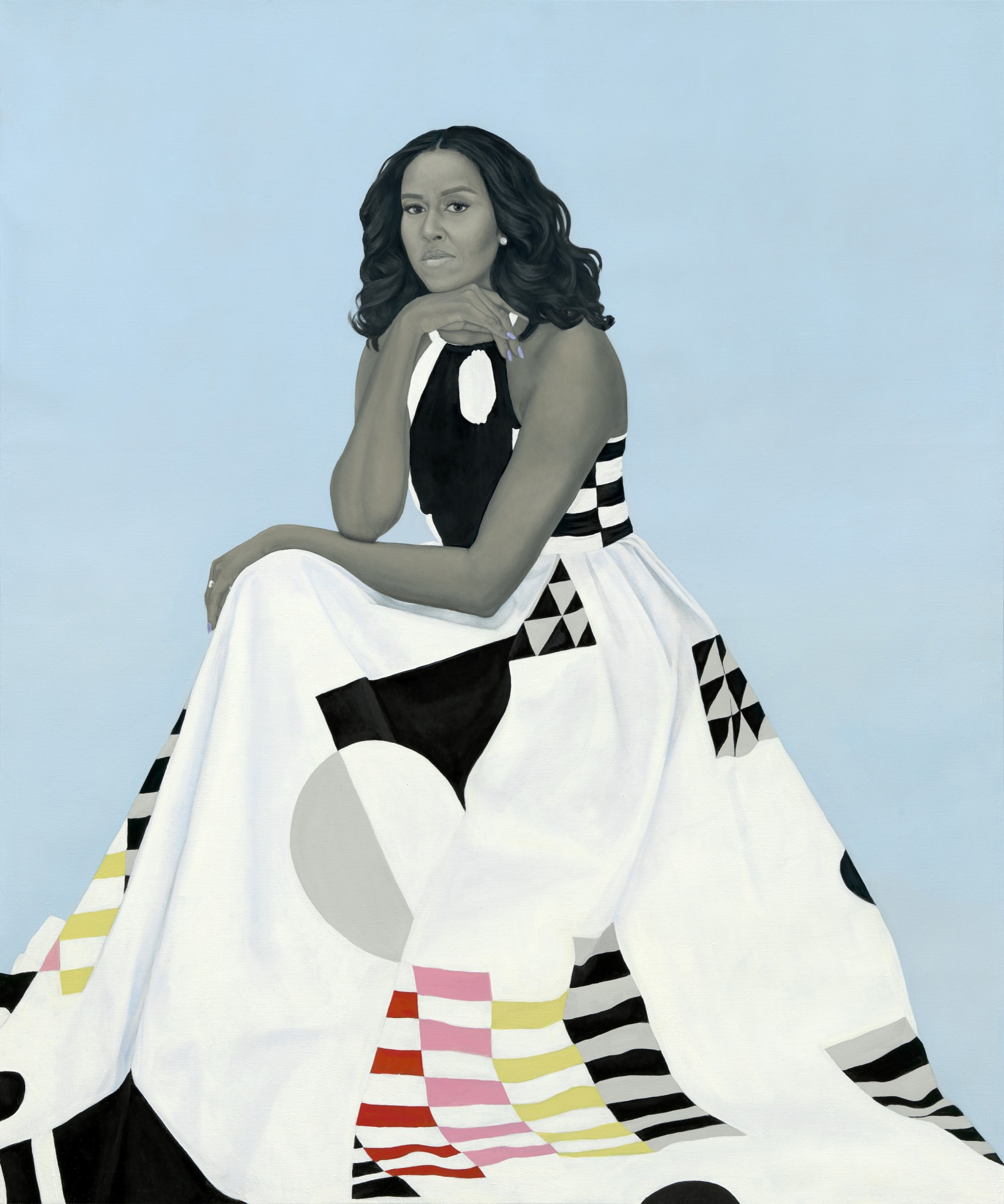 First Lady Michelle Obama, painted by Amy Sherald.
