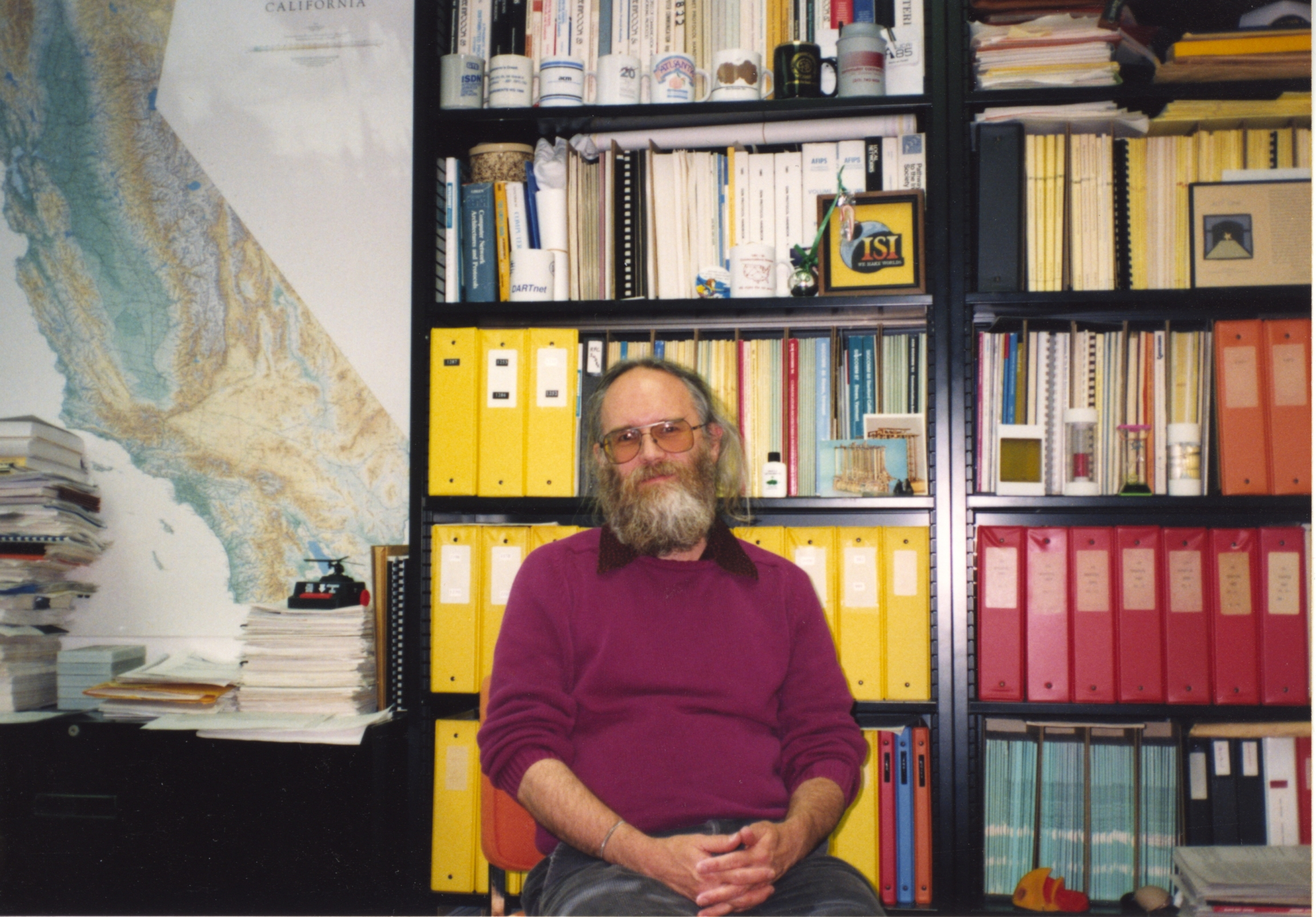 For years, Jon Postel held the reins to the internet's address system.