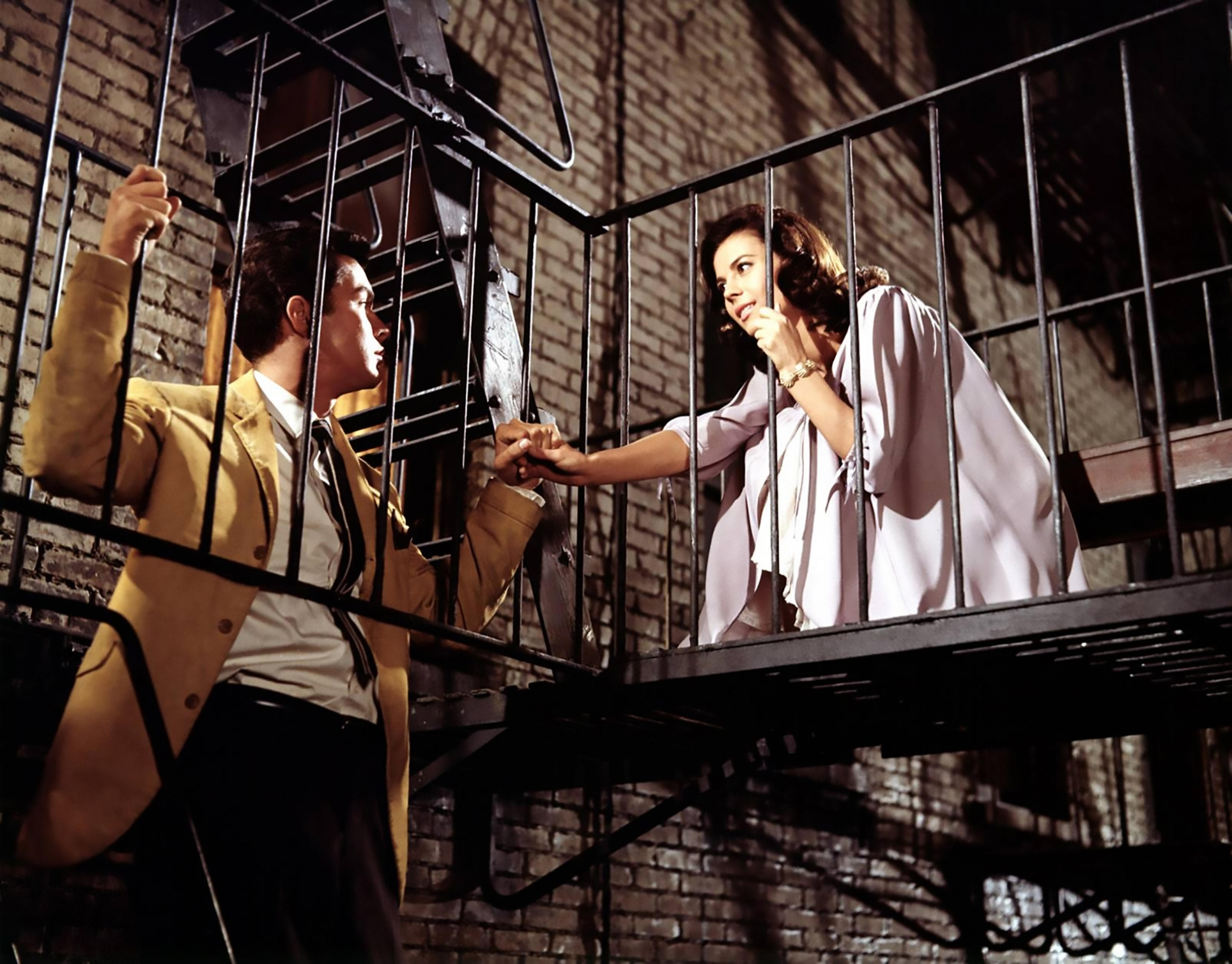 "Richard Beymer and Natalie Wood in the 1961 film ""West Side Story."""