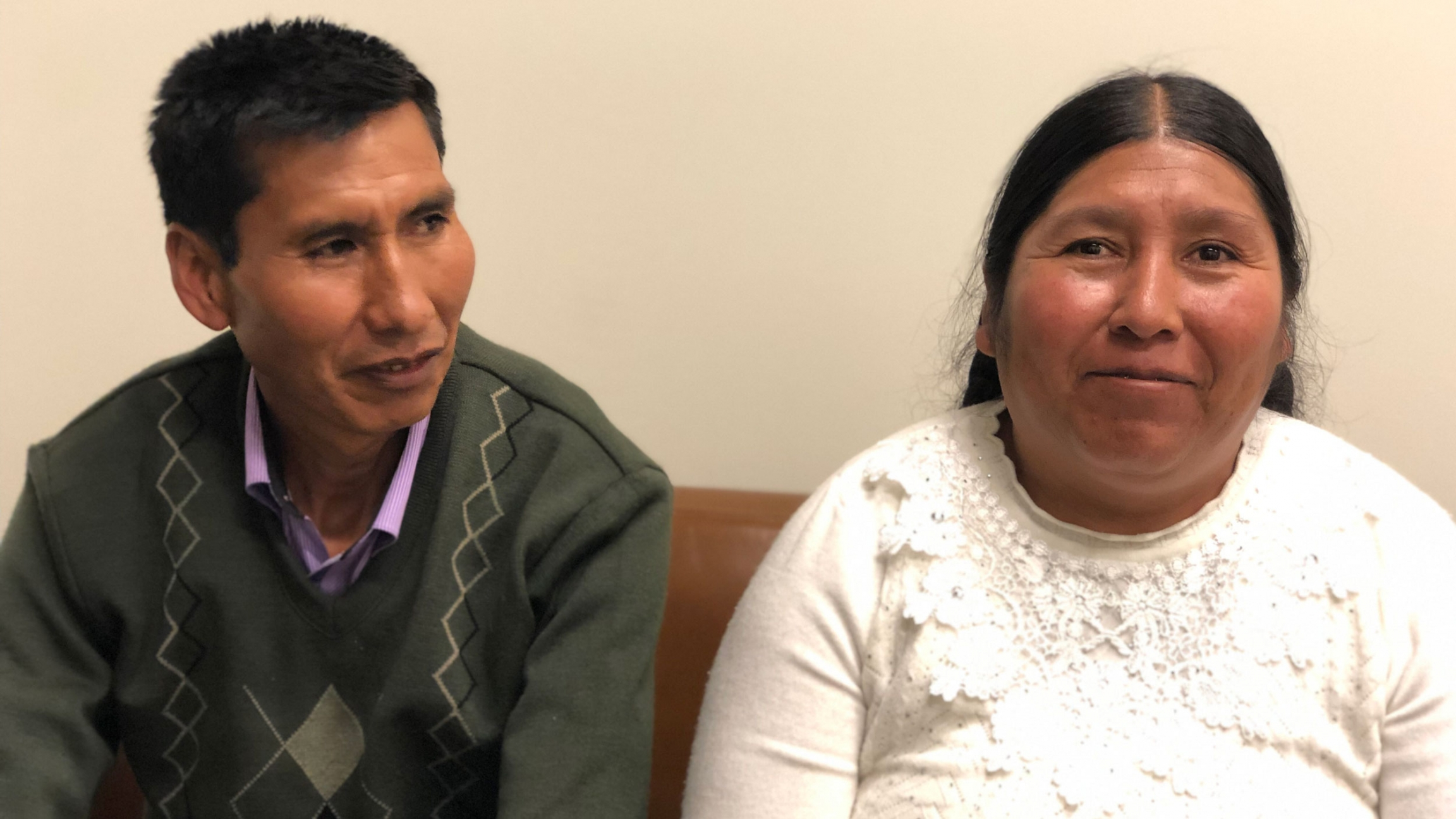 Etelvina Ramos Mamani and Eloy Rojas Mamani spoke with The World in Boston, after meeting with lawyers from Harvard's International Human Rights Law Clinic.