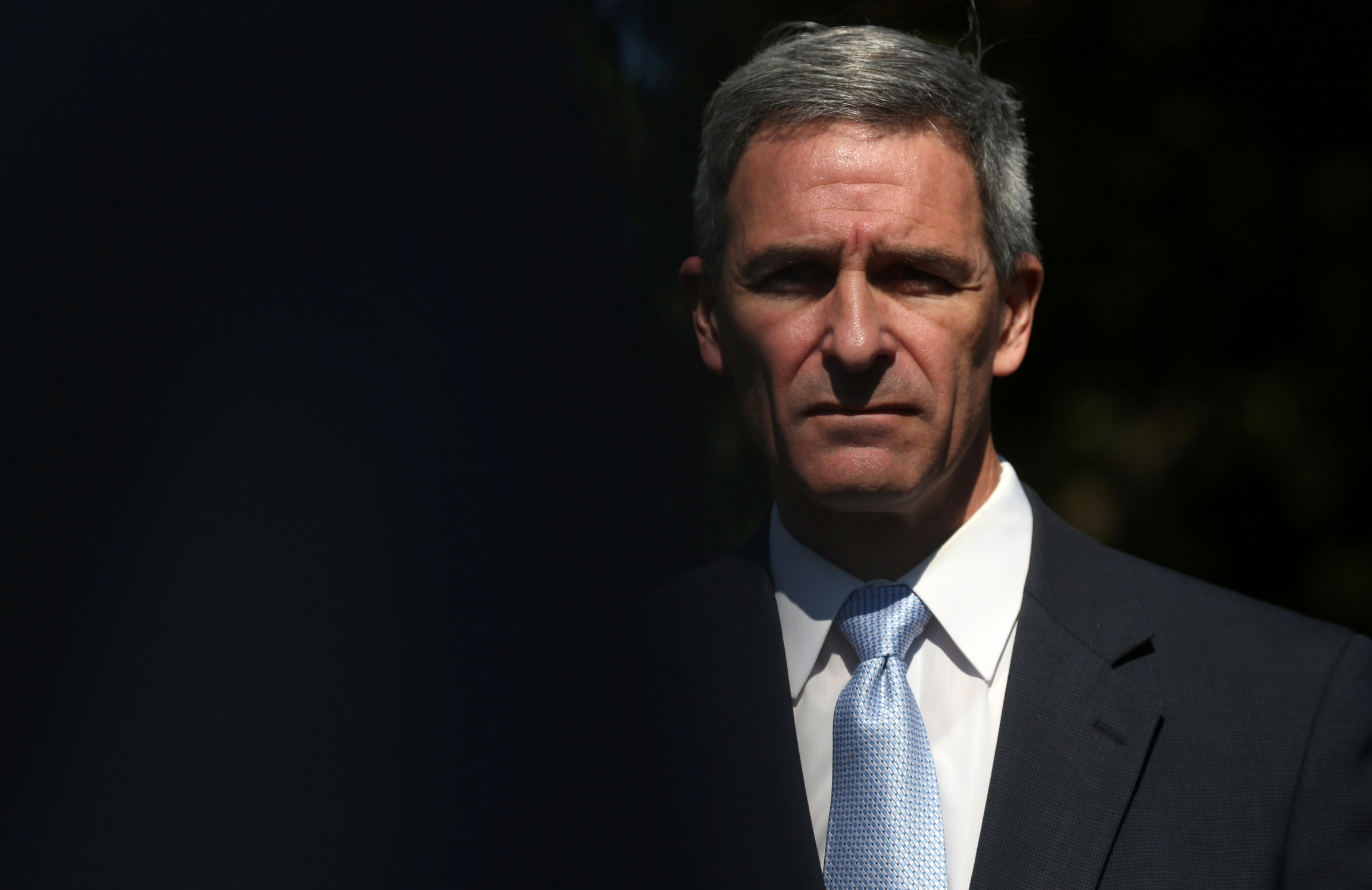 Immigration hawk KenCuccinelli, acting director of USCitizenship and Immigration Services, speaks to the news media at the White House in Washington, DC, onSept. 27, 2019.