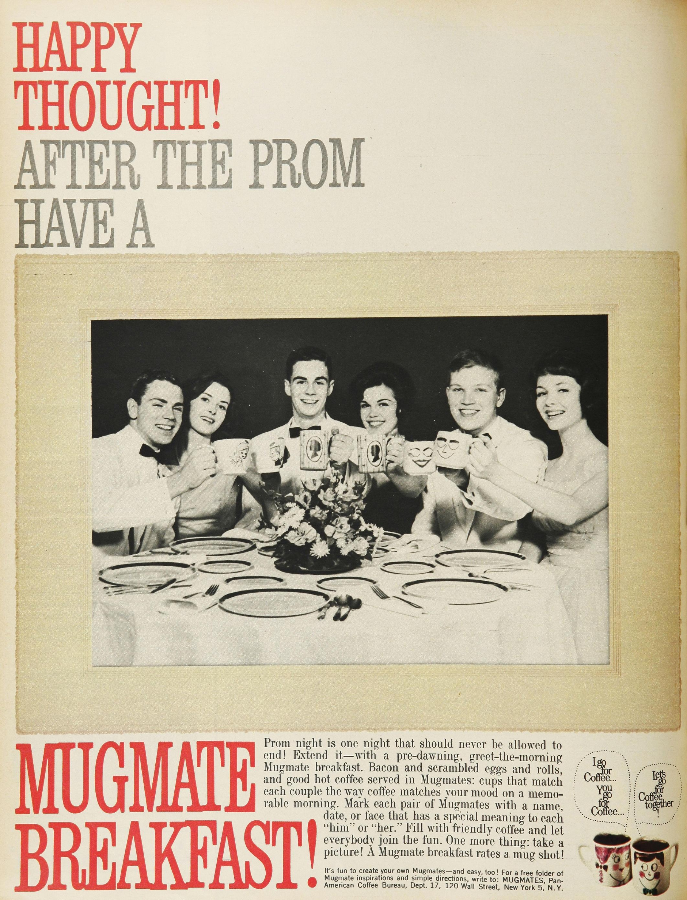 "A magazine advertisement for the ""Mugmates"" campaign from May 1962."