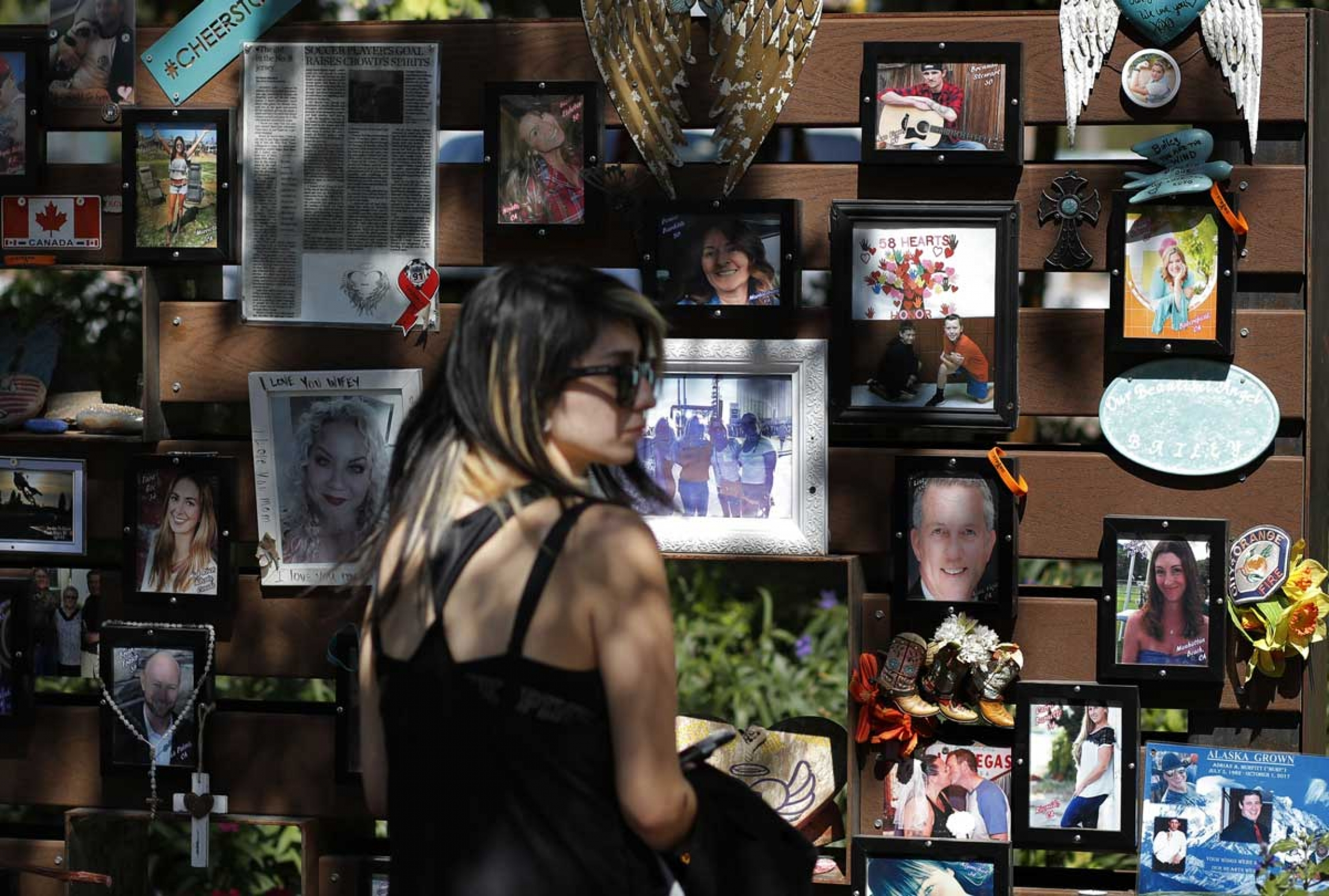 A memorial garden honors victims of the 2017 mass shooting at a Las Vegas country music festival.