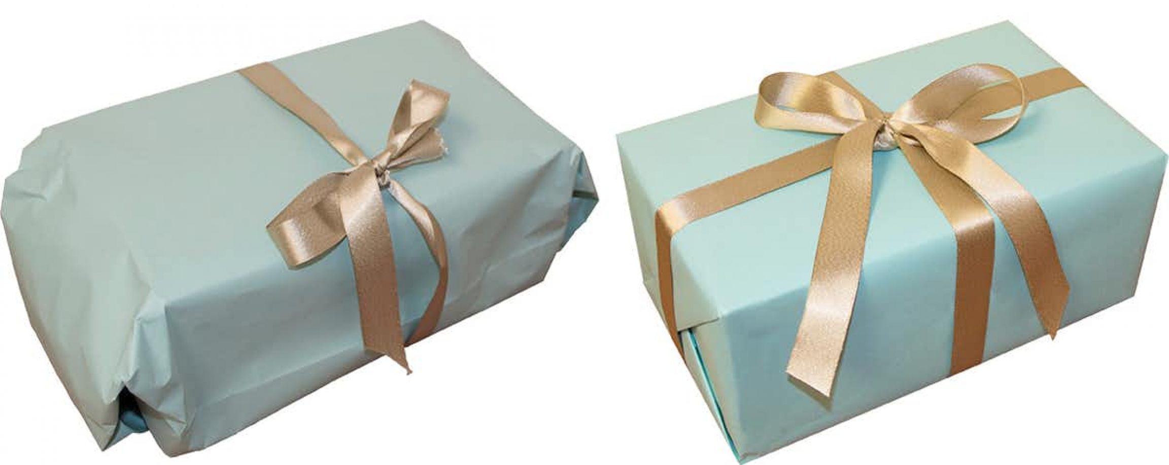 Gift wrapping - sloppy vs. neat