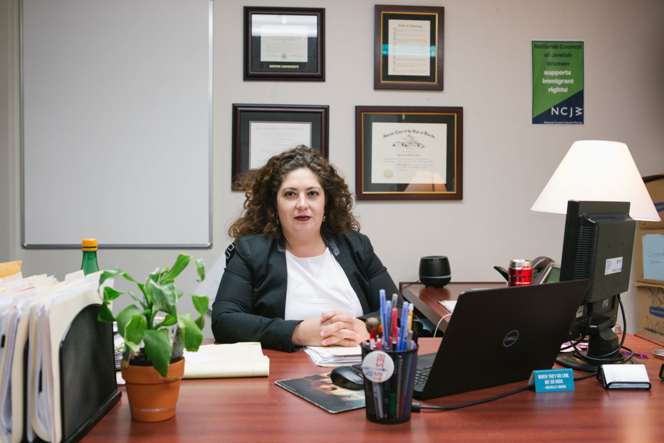 """""""In a lot of cases, the [visa certification]denials that I've received, I've tried to follow up and get explanations, and the explanations I get are not very satisfying,"""" says immigration attorney Maya Ibars, who is handling Alcantara's case."""