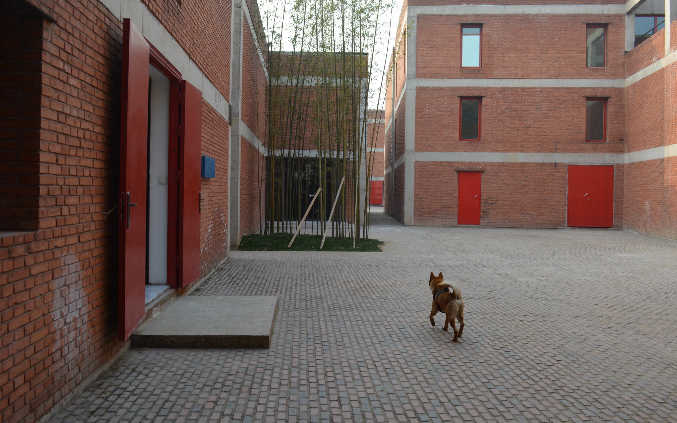 Brick buildings containing galleries