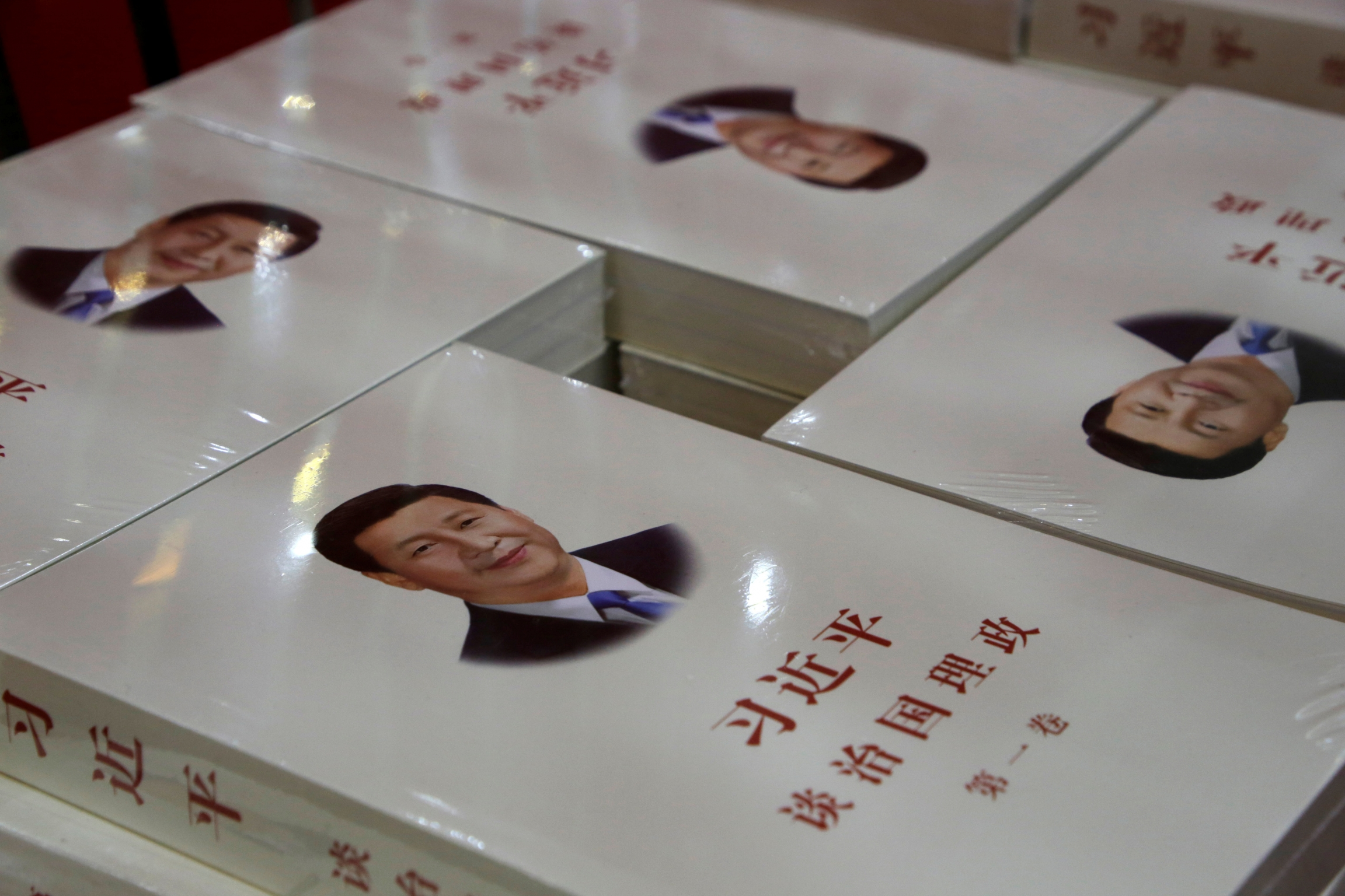 Copy of books with president's face