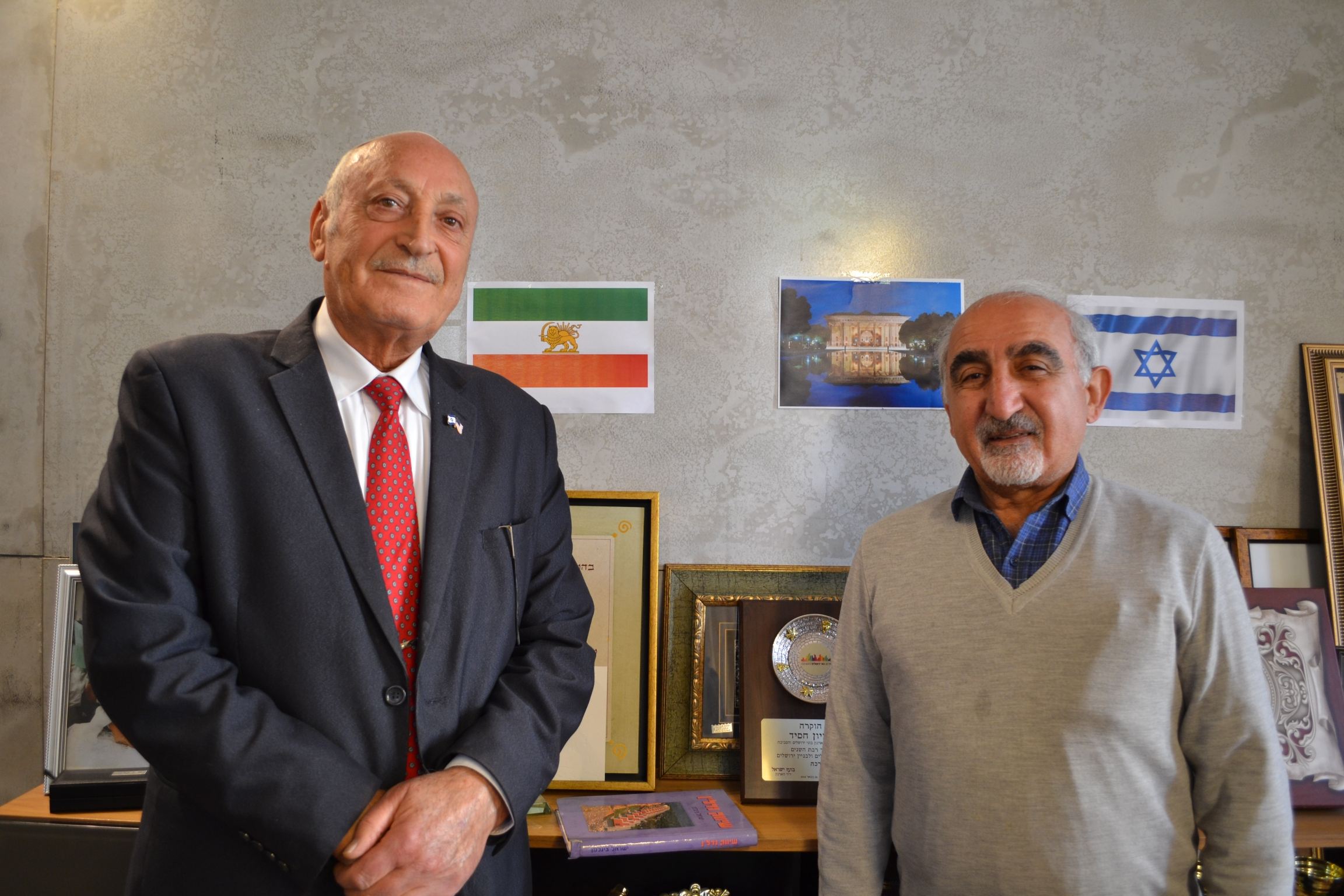 Zion Hasid and Iraj Aghajani run an organization for Iranian immigrants to Israel.