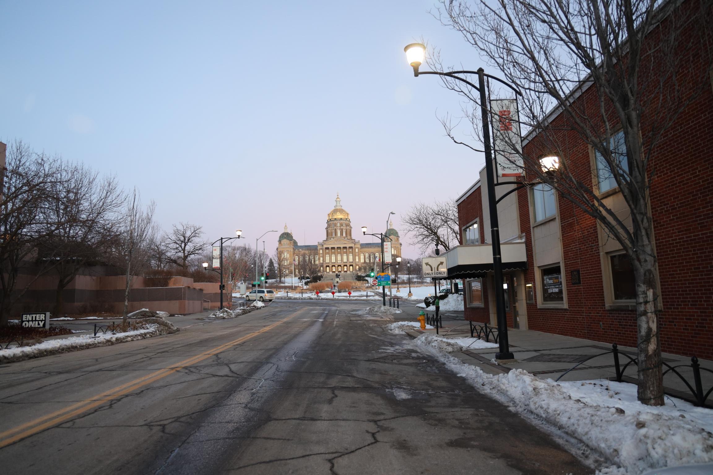 TheIowa State Capitolis seen inIowa'scapitalcity,Des Moines.