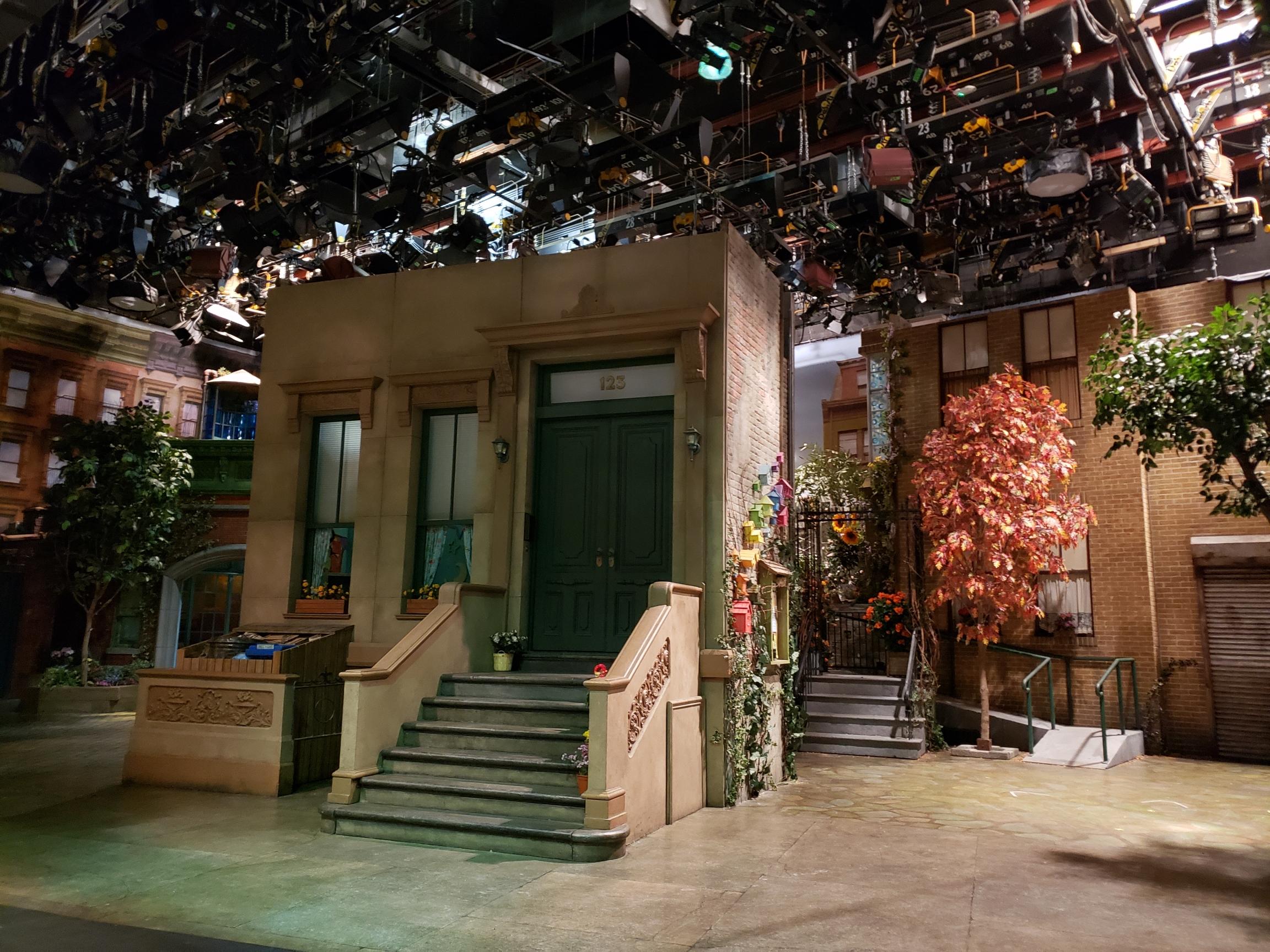 123 Sesame Street in Stage J at Kaufman Astoria Studios.