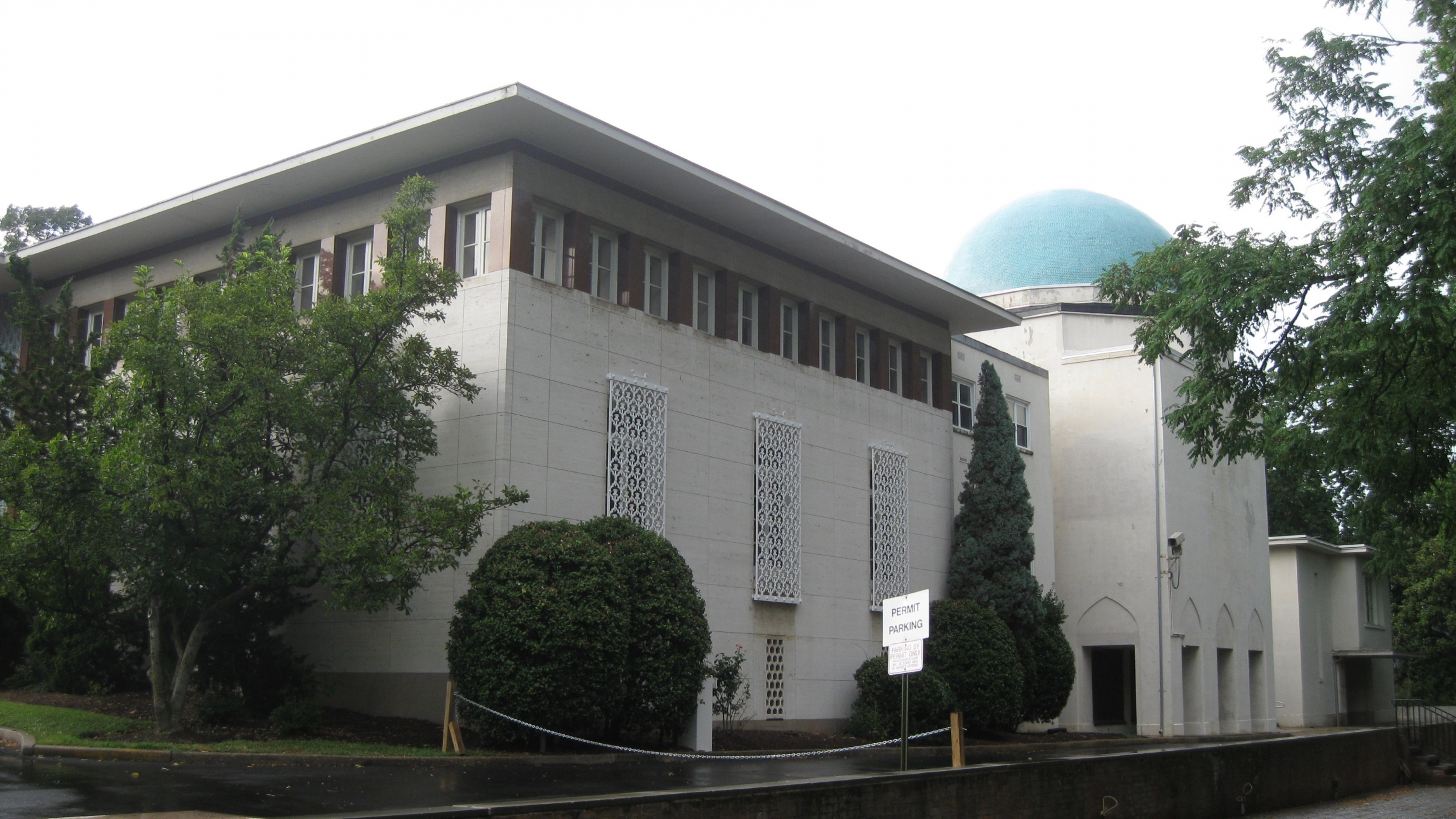 The former Iranian Embassy in Washington, DC. The US State Department is the current custodian of the building, which was built in 1959.