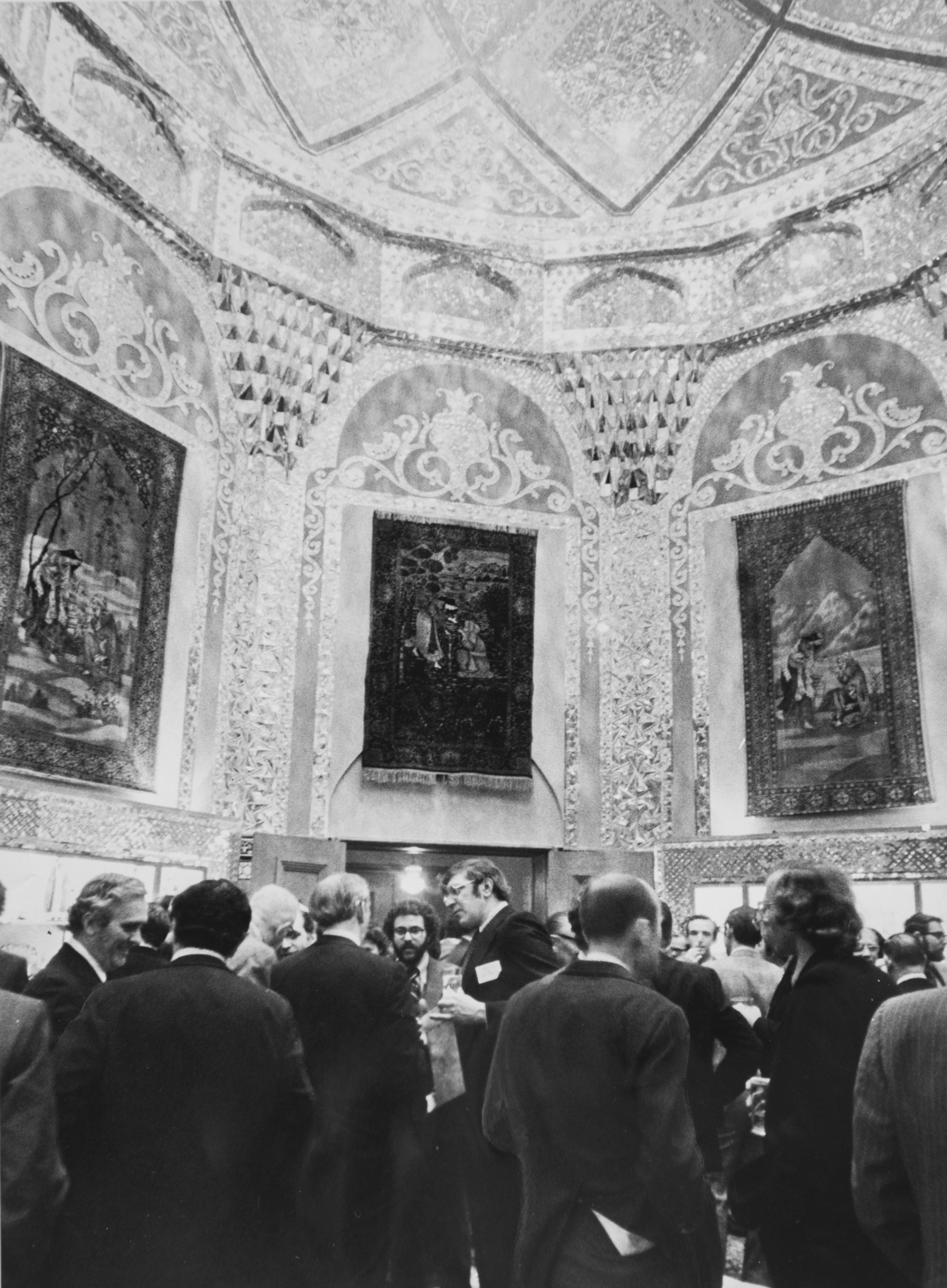 The Iranian Embassy's Mosaic Room is pictured in 1975.