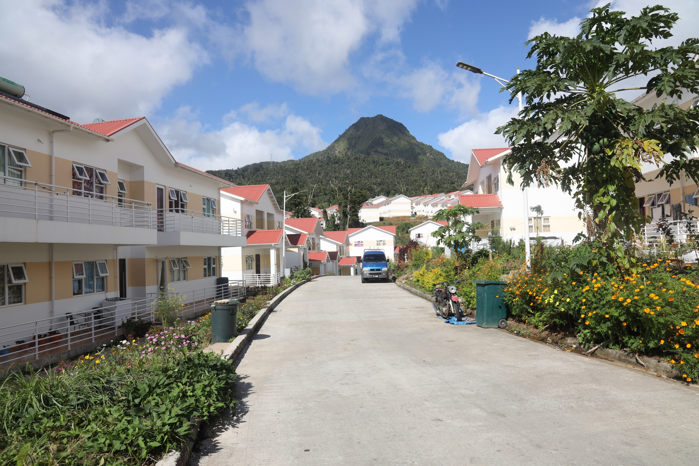 Some 1,000 new homes have been built in Dominica for residents who lost theirs in Tropical Storm Erika in 2015 or Hurricane Maria in 2017.
