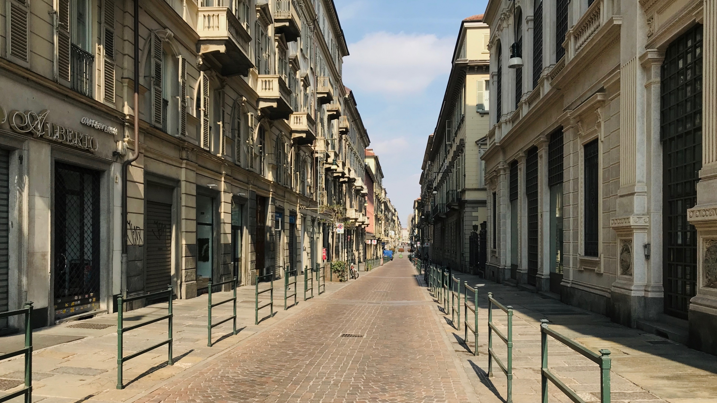 The train station in the Italian city of Turin was empty when reporter Francesca Berardi took a walk through the area last week.