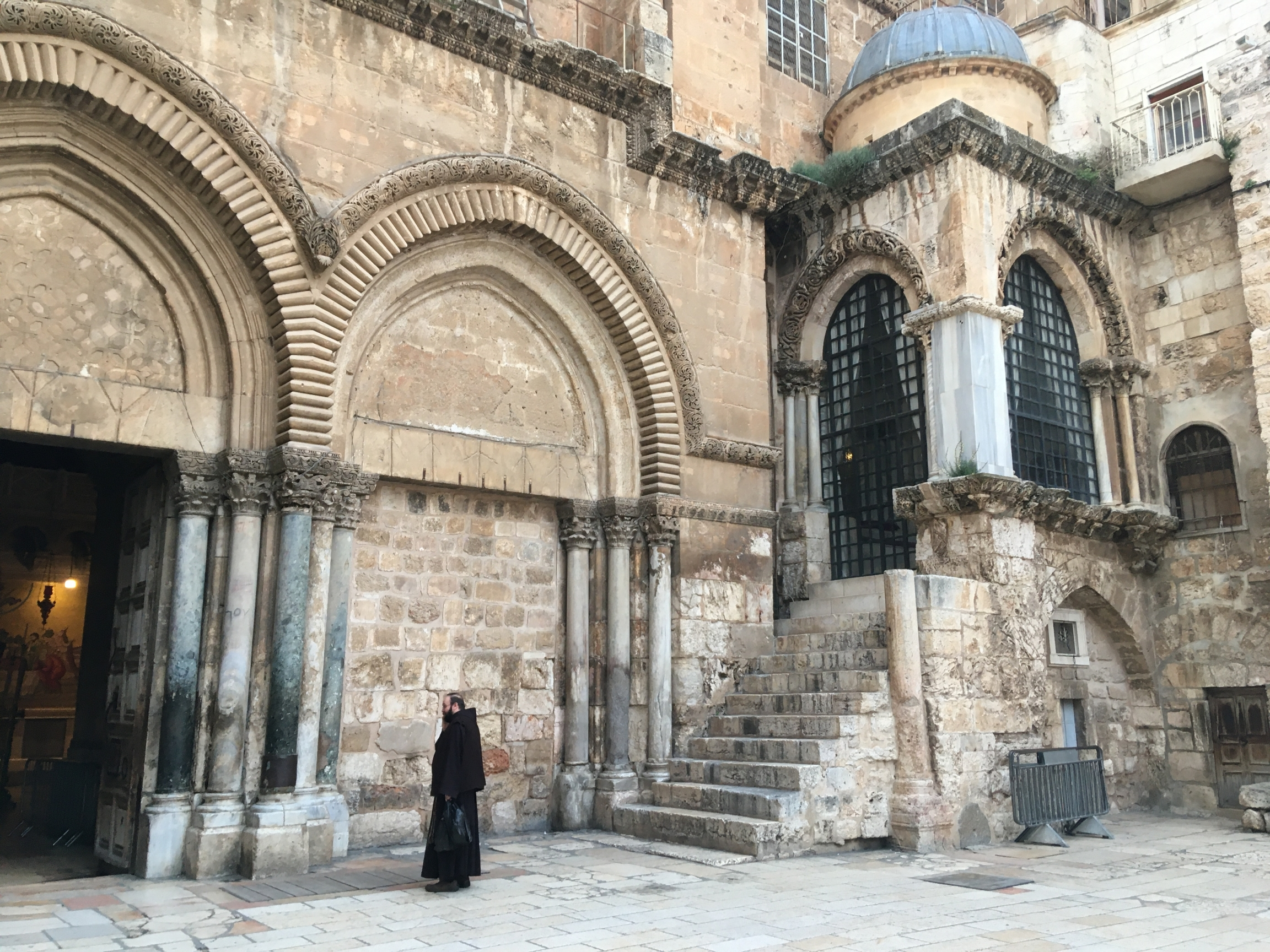 The Church of the Holy Sepulchre was mostly empty on a recent Sunday.
