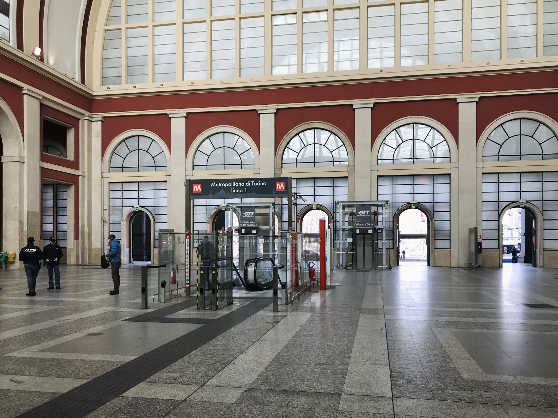 During reporter Francesca Berardi's walk last week, Turin's main train station, Porta Nuova, was semideserted.