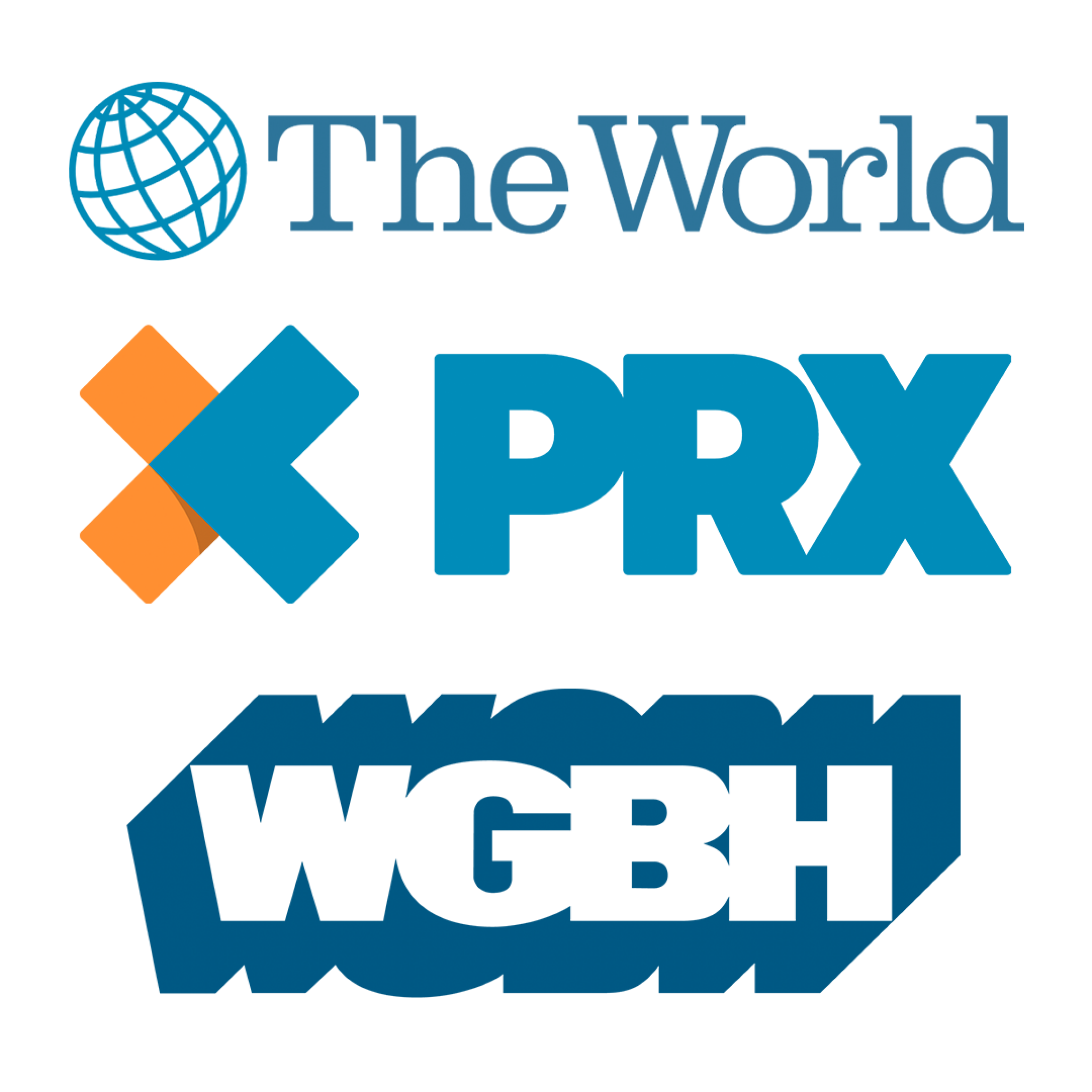The World, PRX, WGBH logos