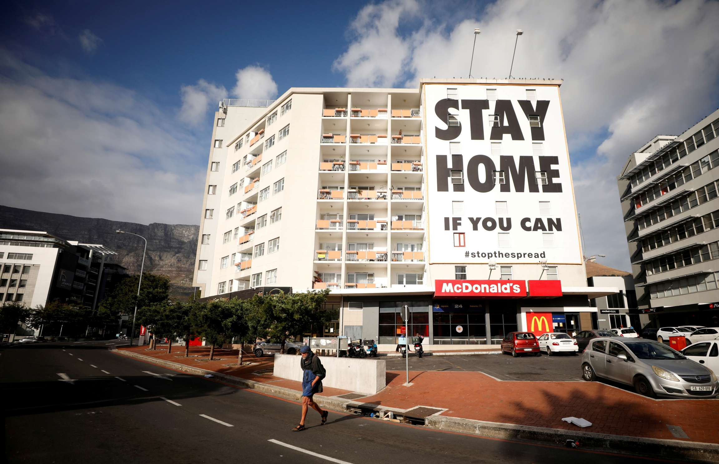 Stay at home sign in South Africa