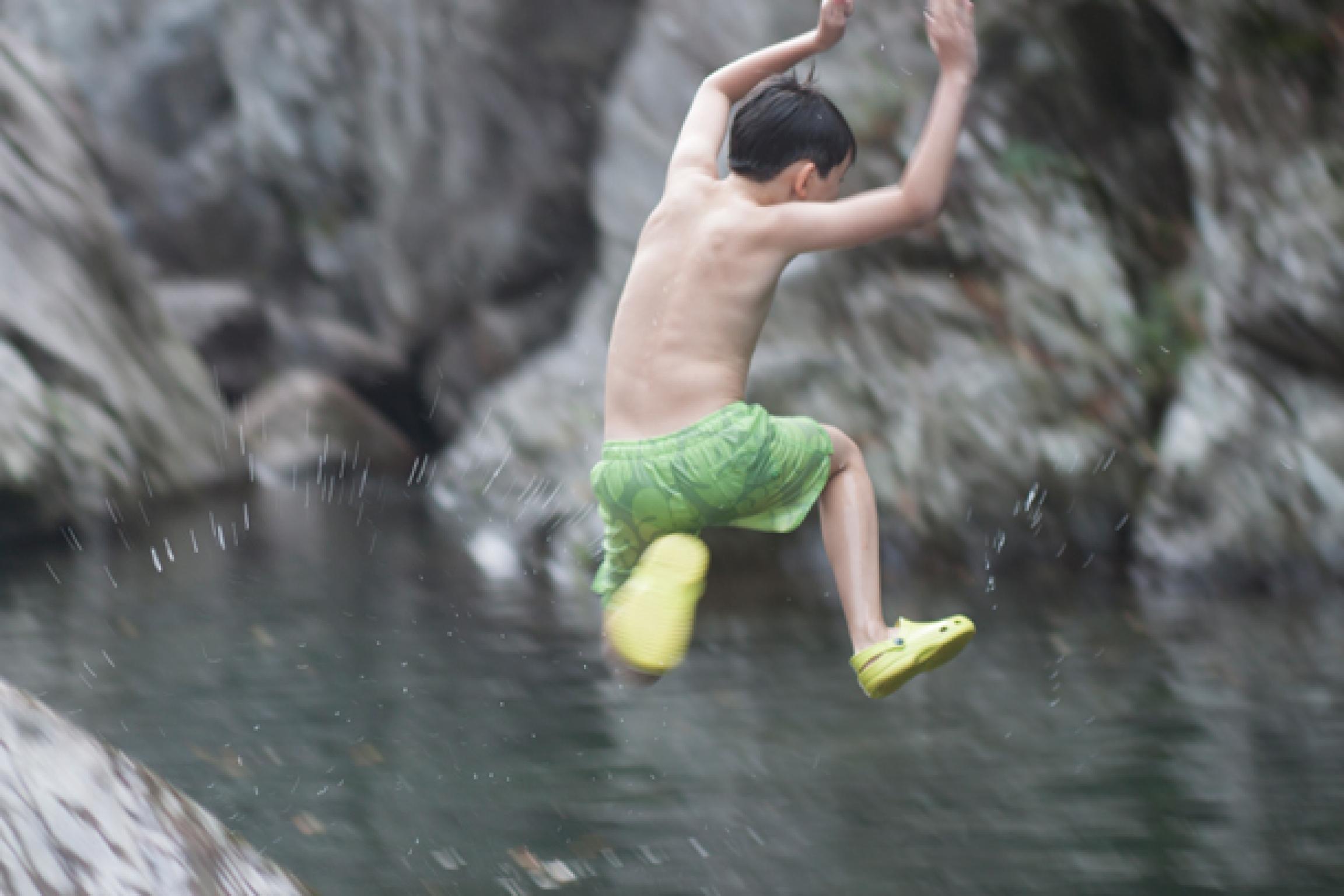 Tianmushan, China swimming hole