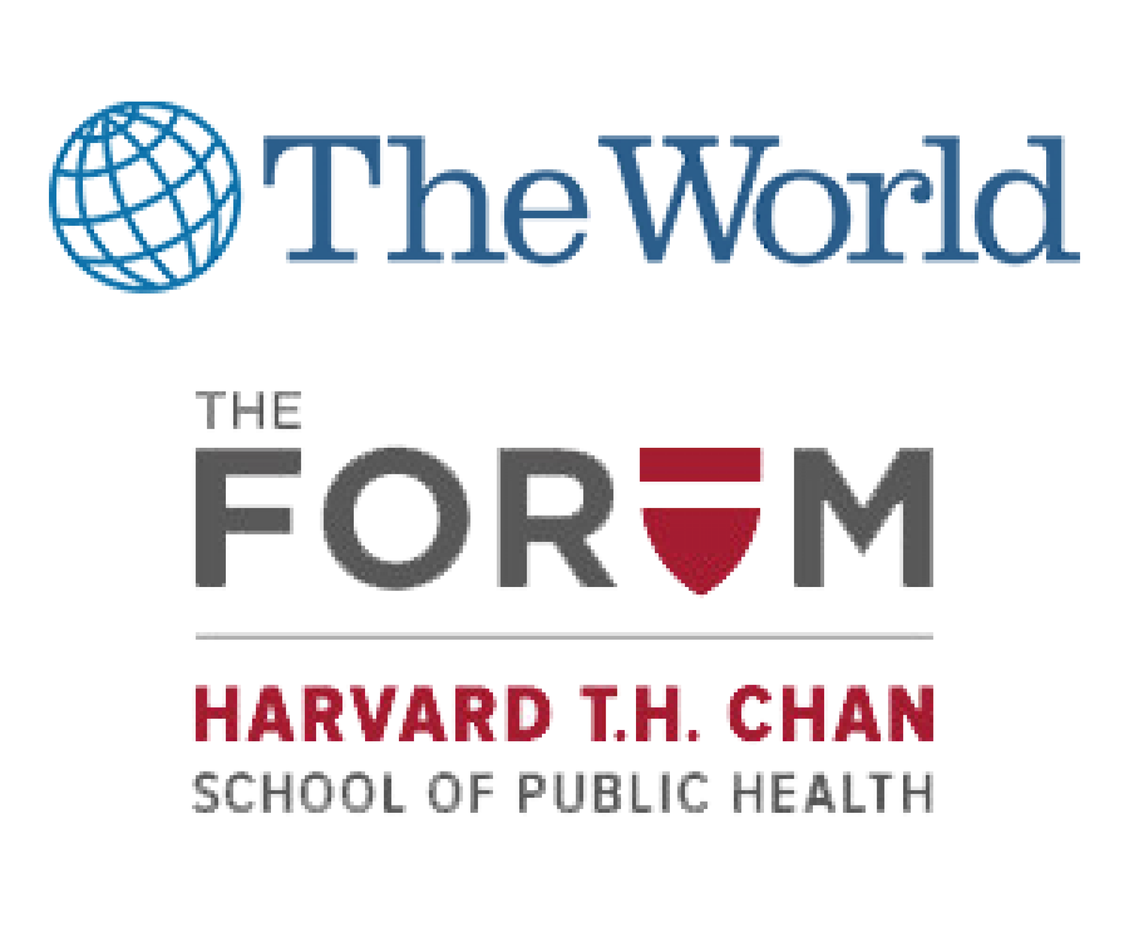 The World and The Forum logos transparent