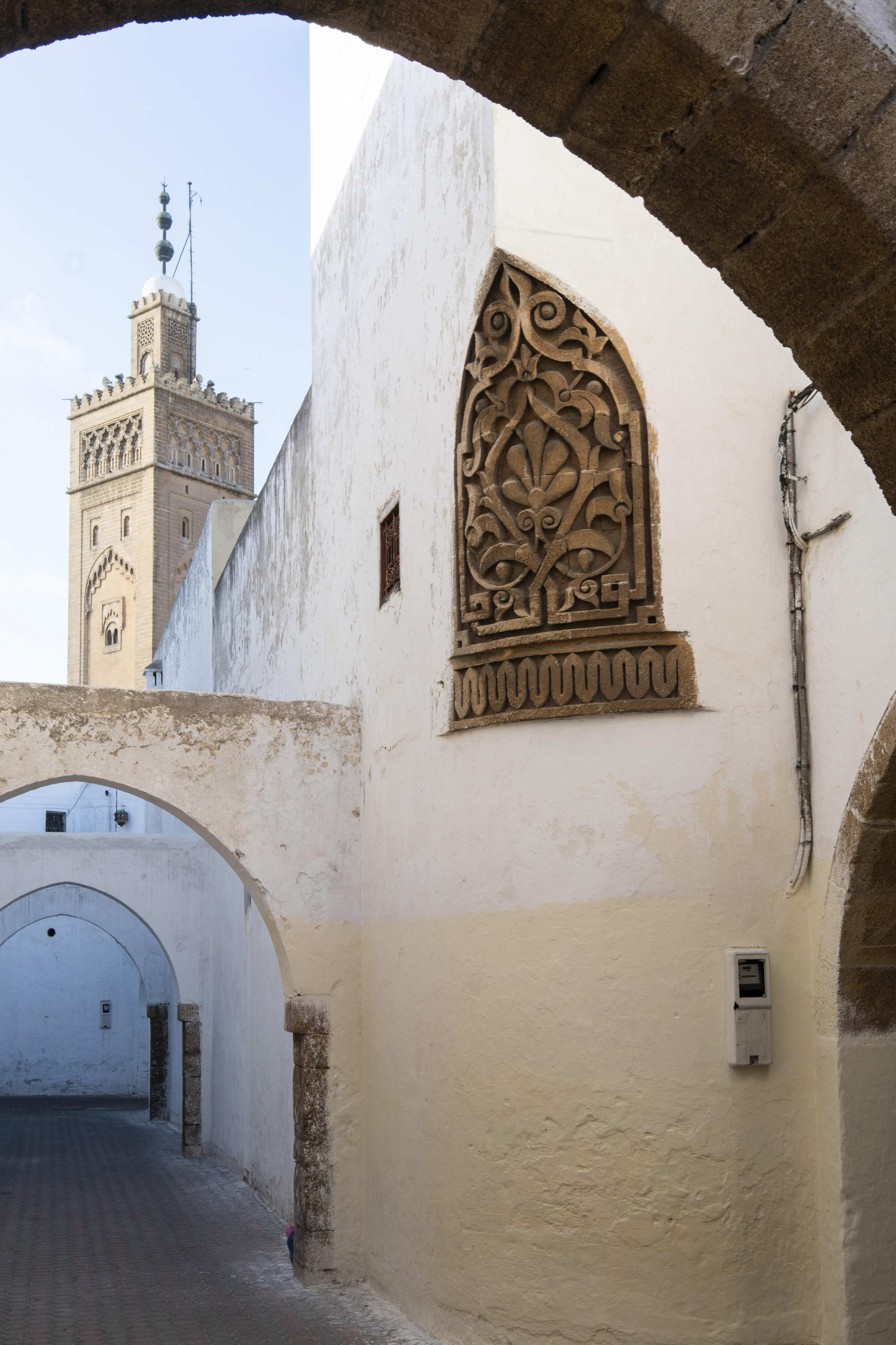 A closed mosque in the historic Habbous neighborhood in Casablanca.
