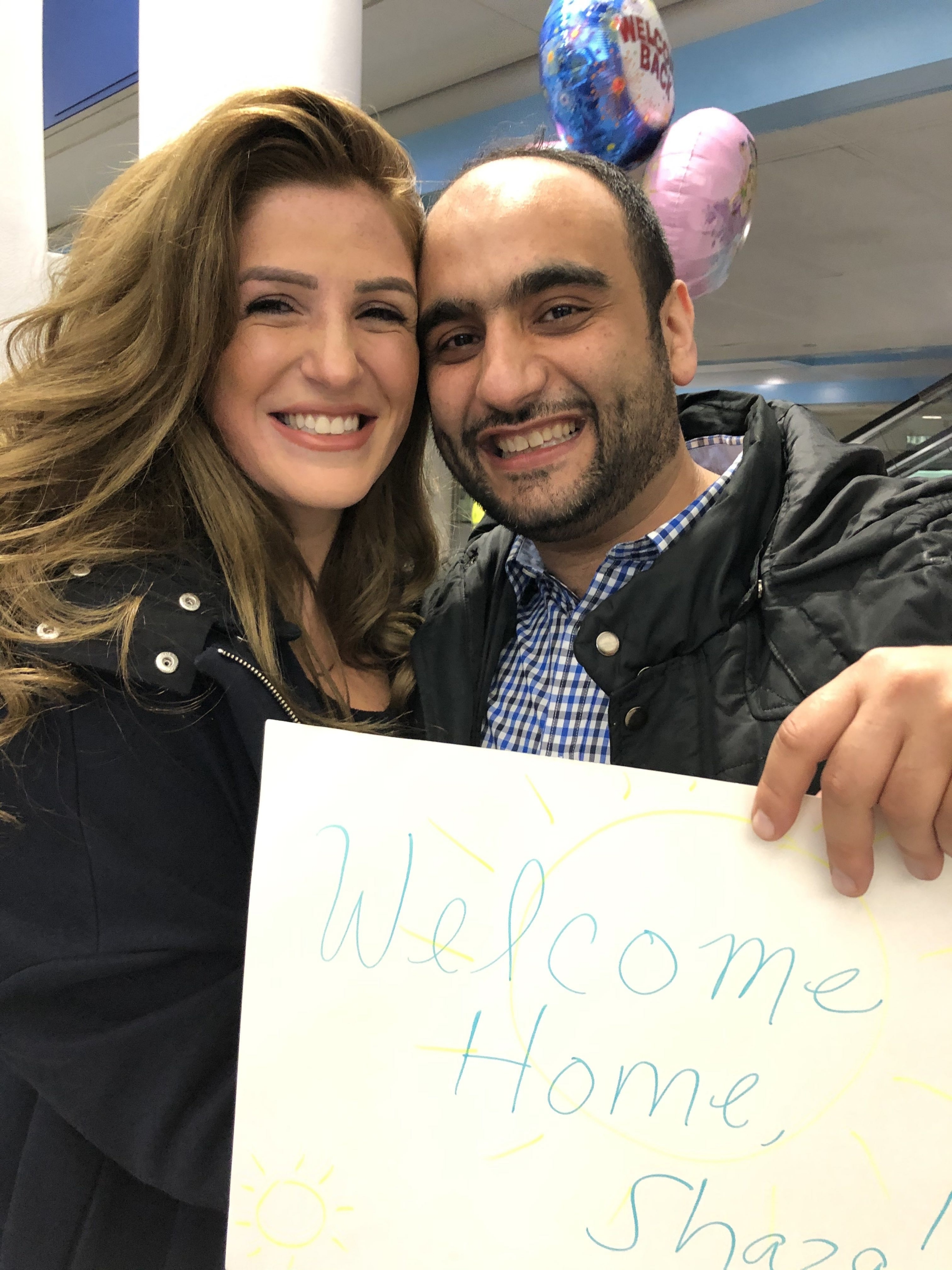 After seven years of living apart, Shaza finally joined Rami in the United States earlier this year.
