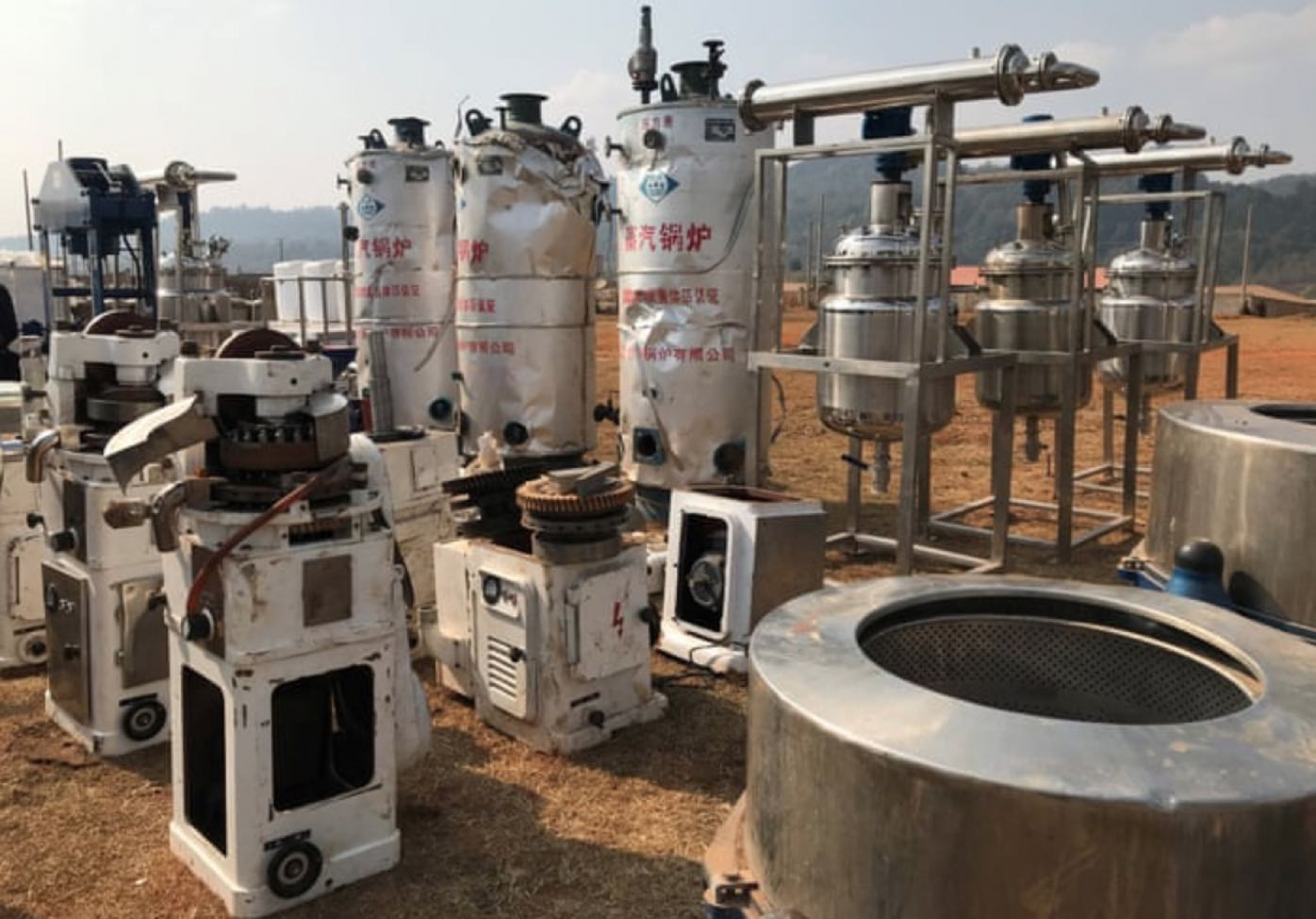 The contents of a meth-producing superlab in Myanmar.