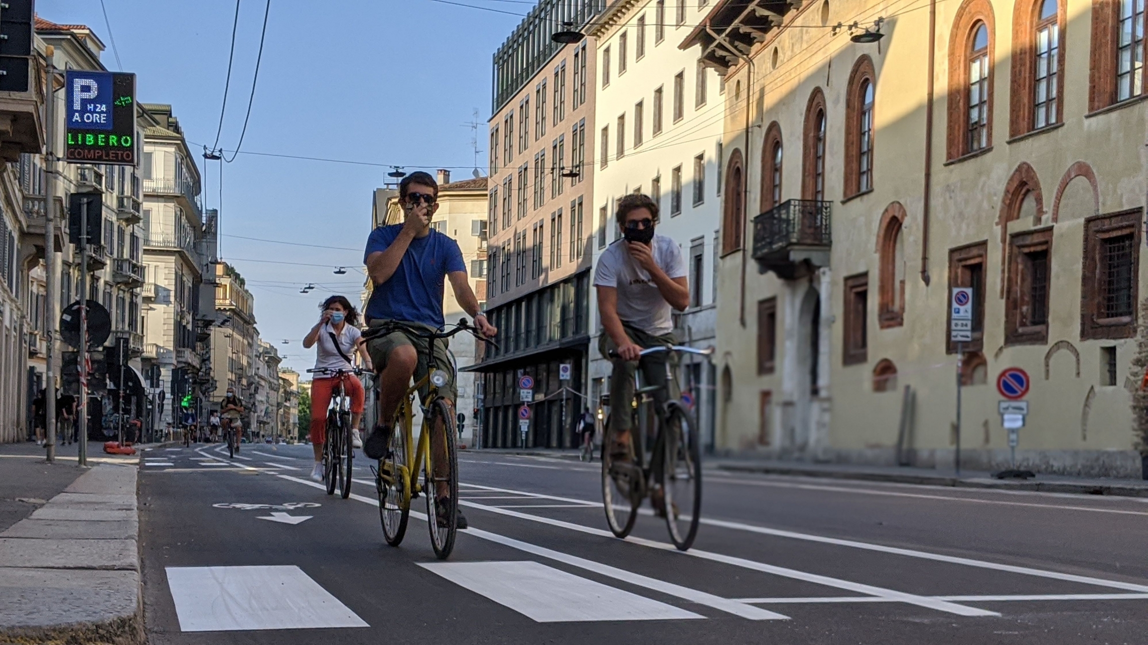"Milan's ""Open Streets"" plan makes way for more cyclists and pedestrians."