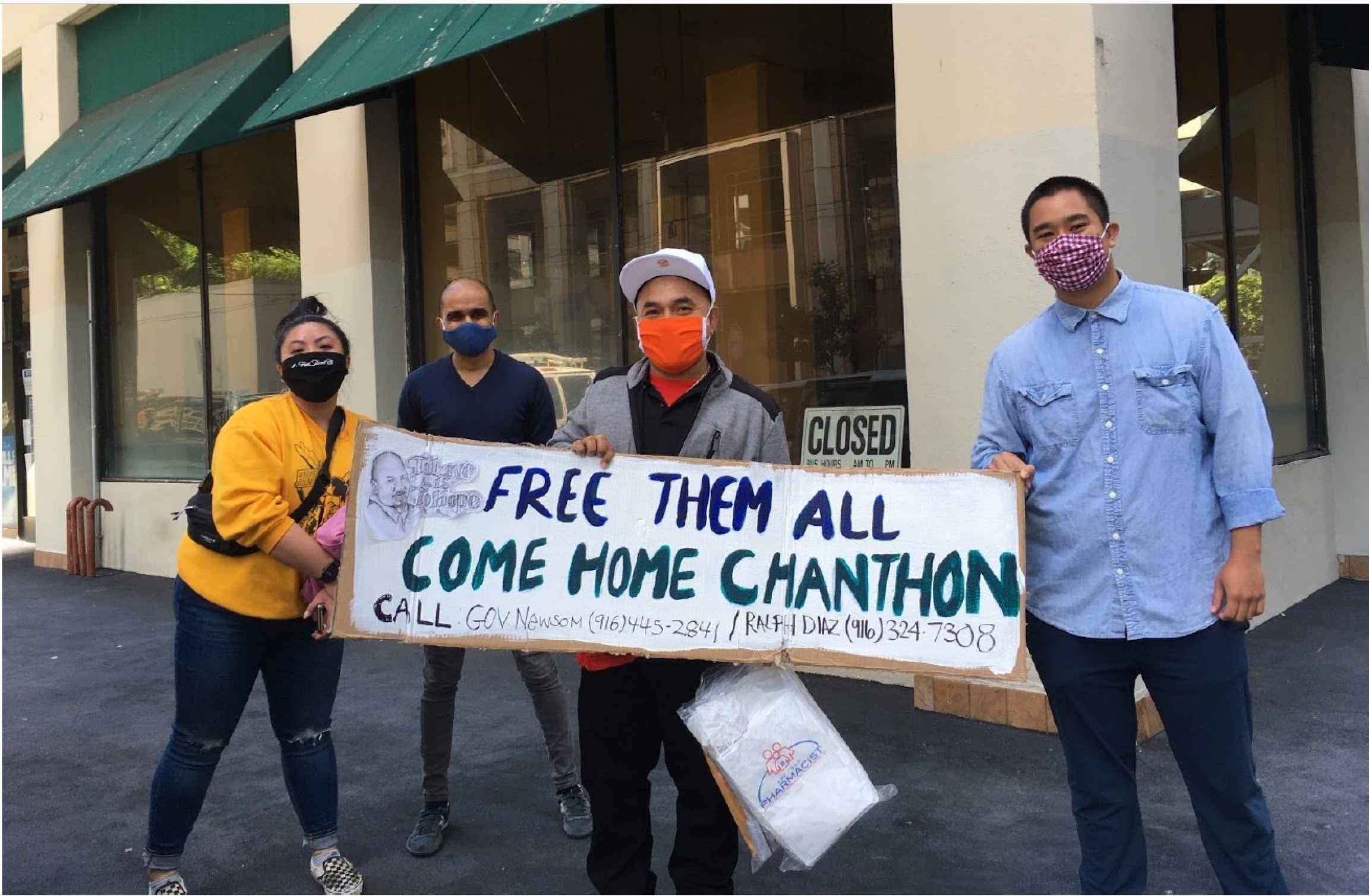 Immigrant rights advocates in San Francisco demanded the release of Chanthon Bun from San Quentin State Prison, along with other inmates showing symptoms of the coronavirus.