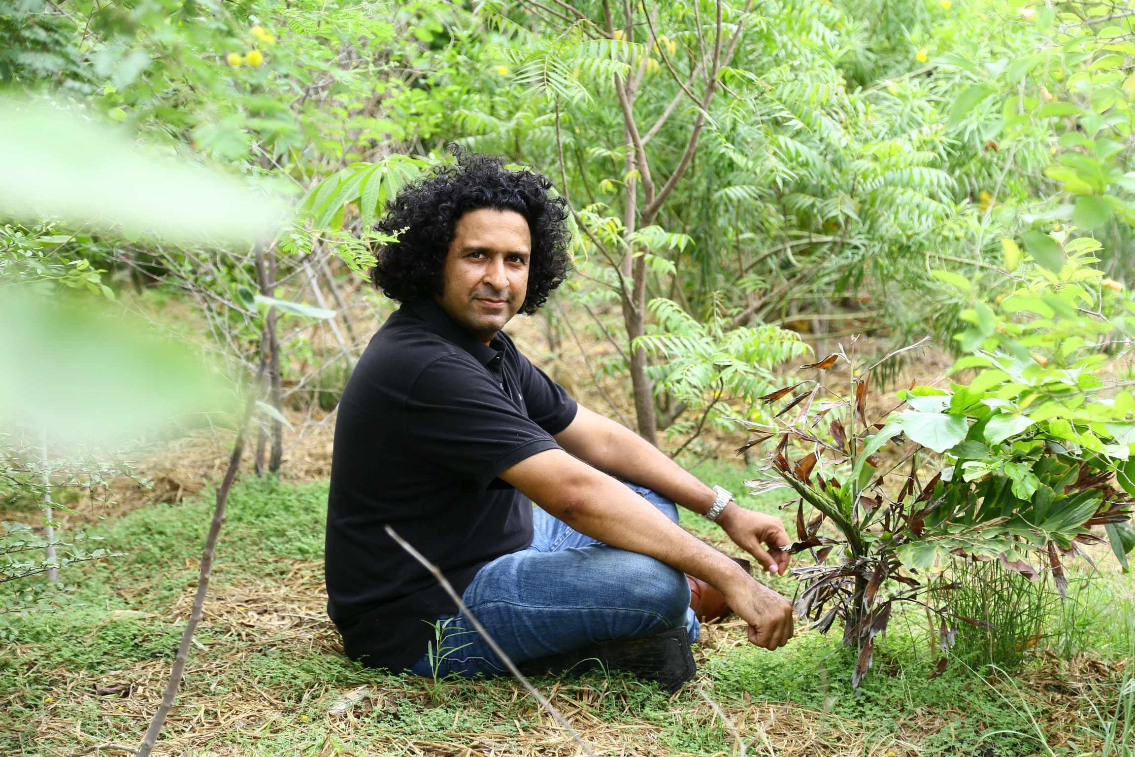 Shahzad Qureshi, founder of Urban Forest, in Karachi, Pakistan.