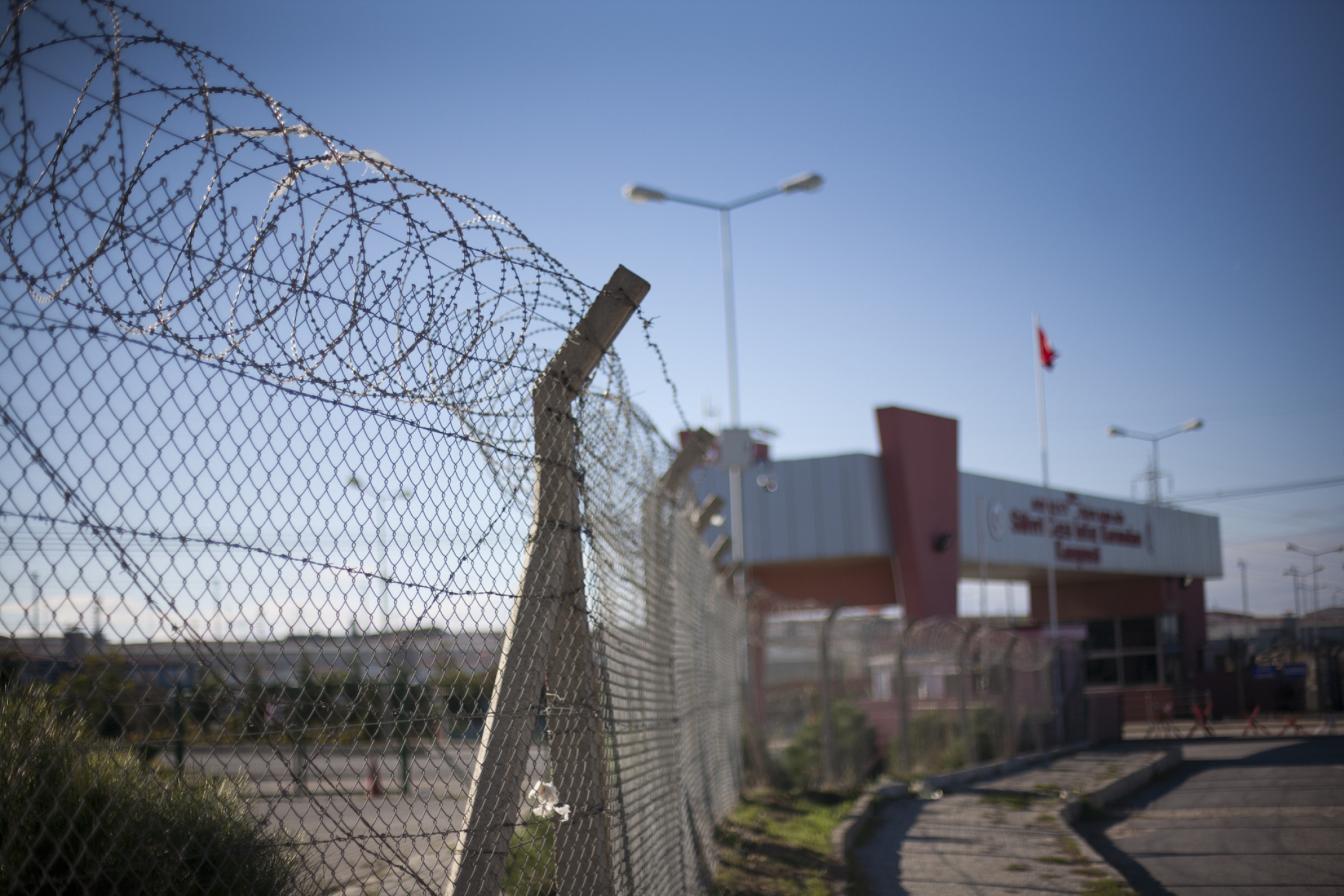 Entrance to Silivri Prison outside of Istanbul, where thousands of political prisoners are held.