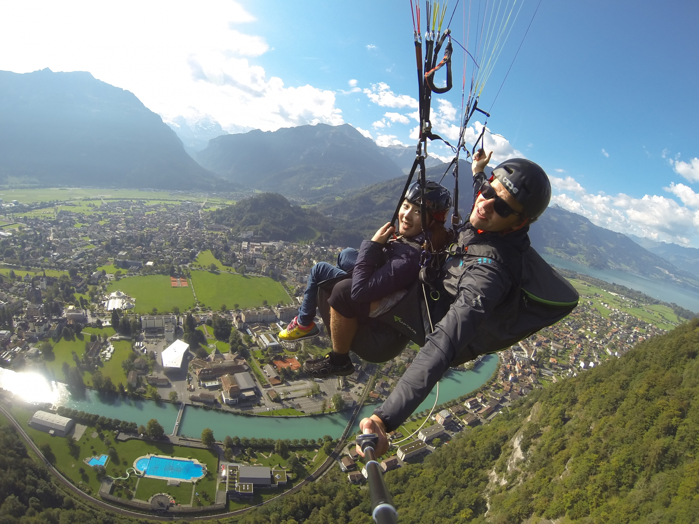 "In her book ""Europe: There's No Reason Not to Go,"" Hong Seo-yoon writes about accessible paragliding in Switzerland."