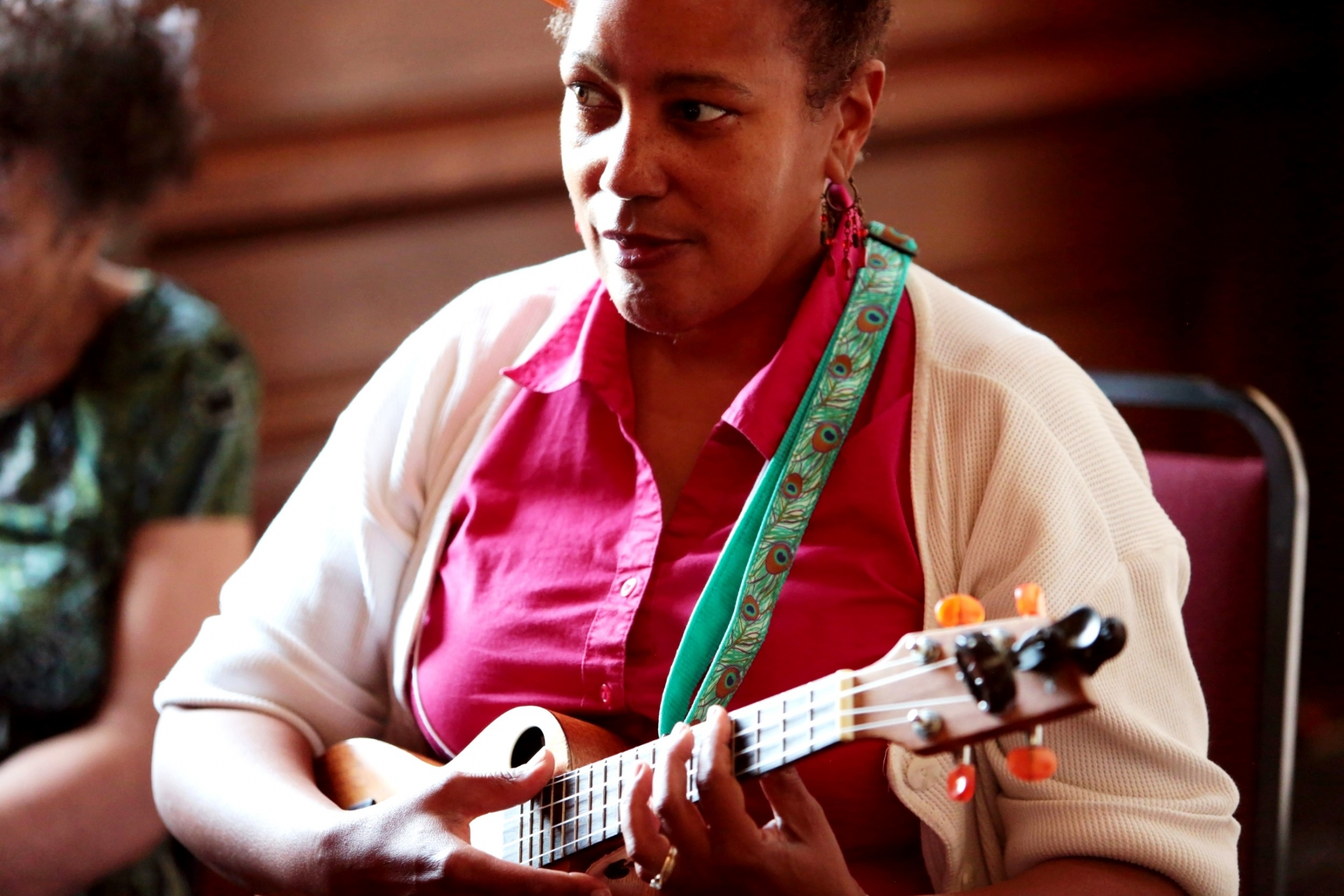 Maryland ukulele player Lori Perine, who has been attending UkeFest for about 8 years.