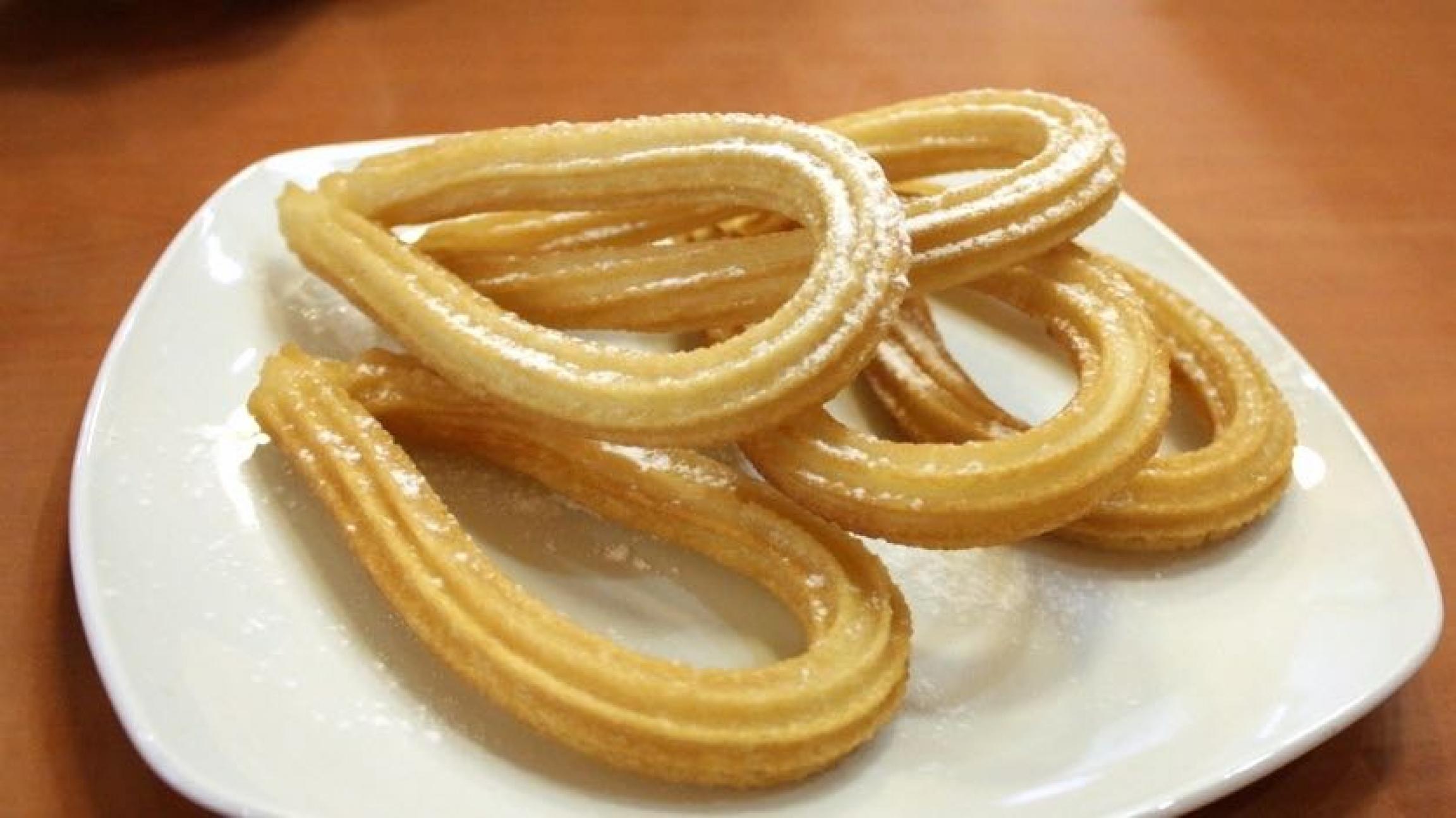 churros on a plate