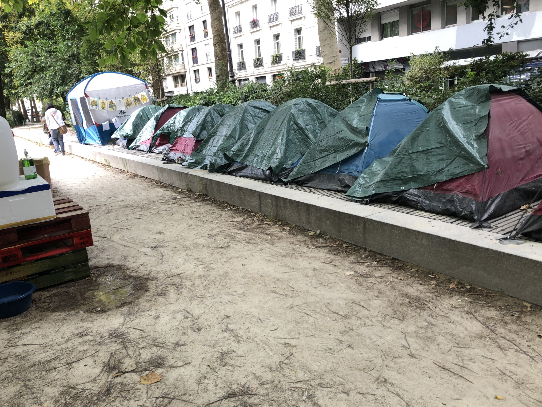 In early July, five nongovernmental organizations worked together toset up a camp for 100 migrant boys. They are pressuring the French government to establish permanent housing for the unaccompanied youth.