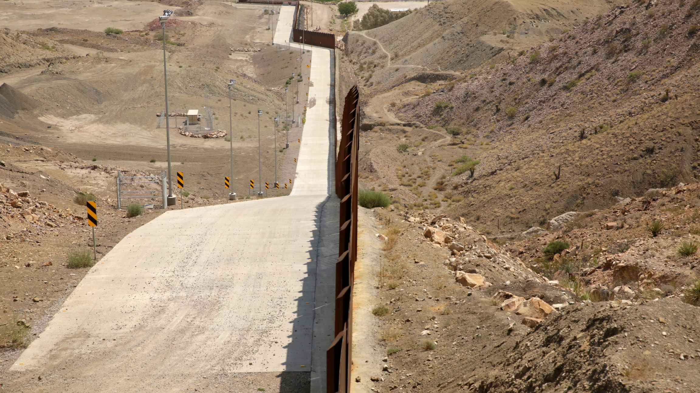 "A border wall section allegedly built with money from Trump supporters who donated in the crowdfunding campaign called ""We Build the Wall"" is seen along the U.S.-Mexico border in Ciudad Juarez, Mexico, Aug. 20, 2020."
