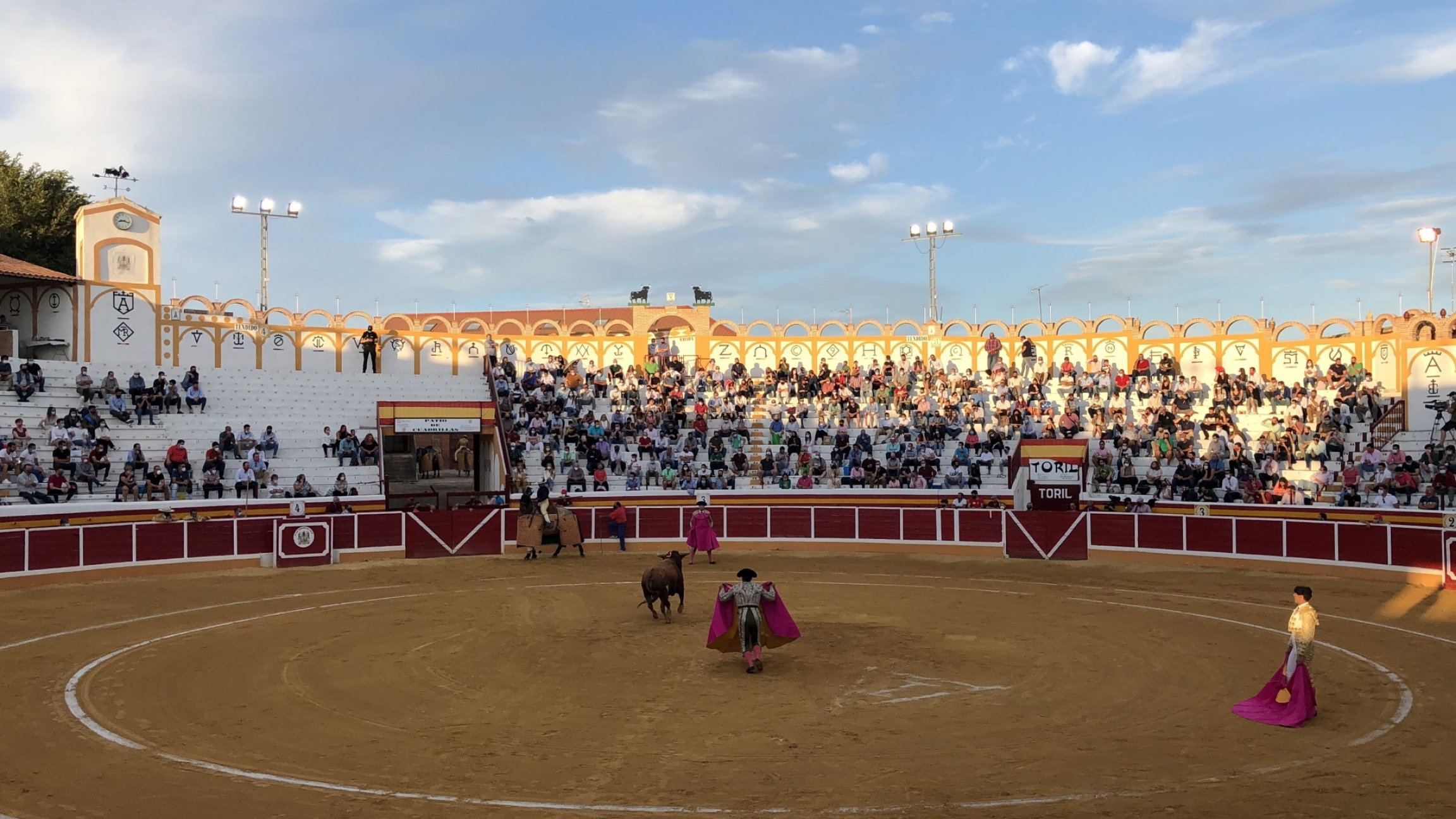 The first stage of the bullfight.