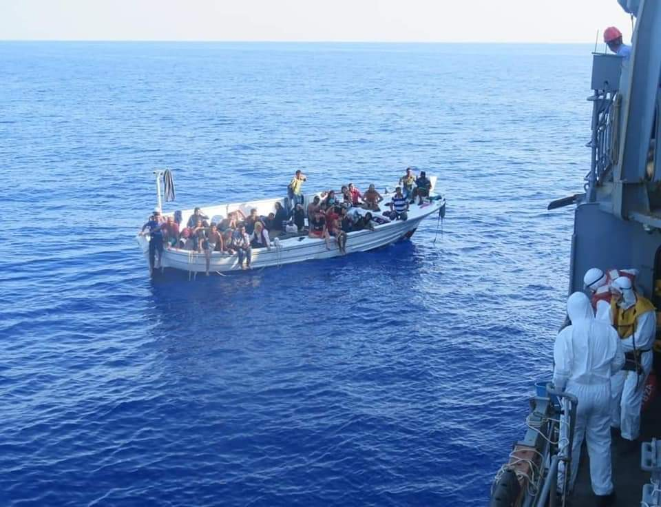 The boat thatZeinab Kaak and Nazeer Mohammed took trying to get to Cyprus was rescued after being stranded at sea.