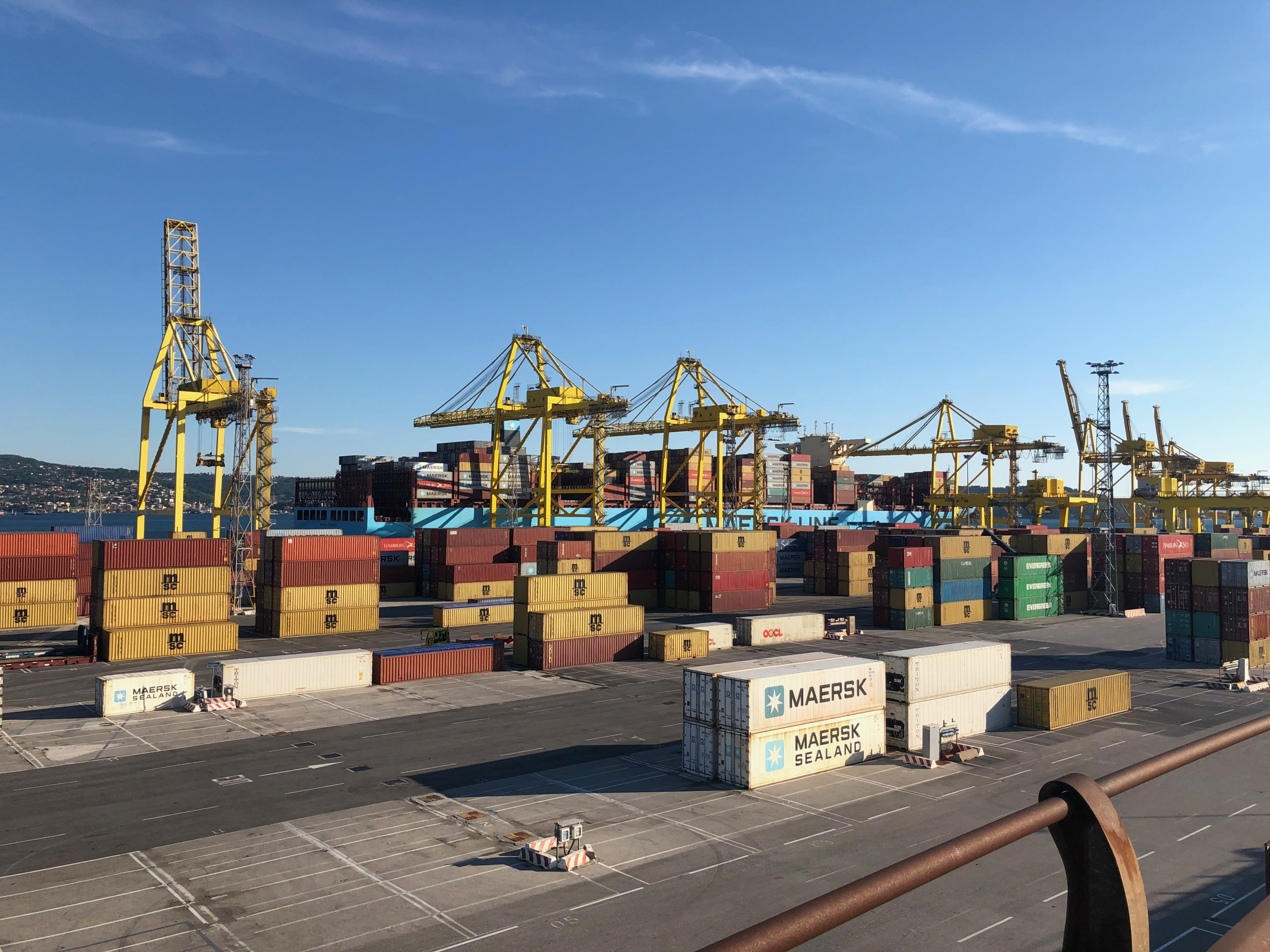 The container port in Trieste, Italy.