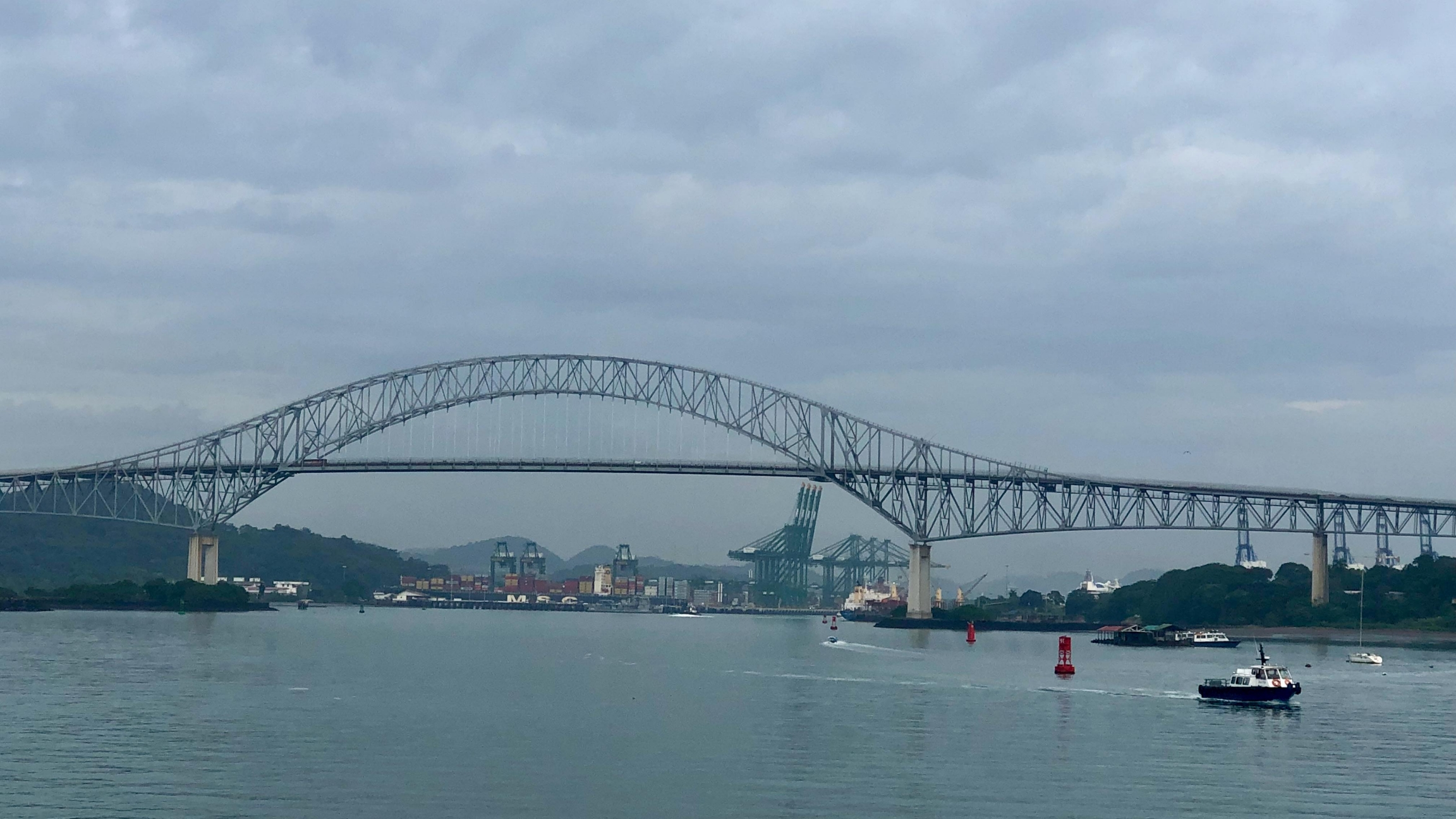 The Bridge of the Americas, located at the Pacific end of the Panama Canal.