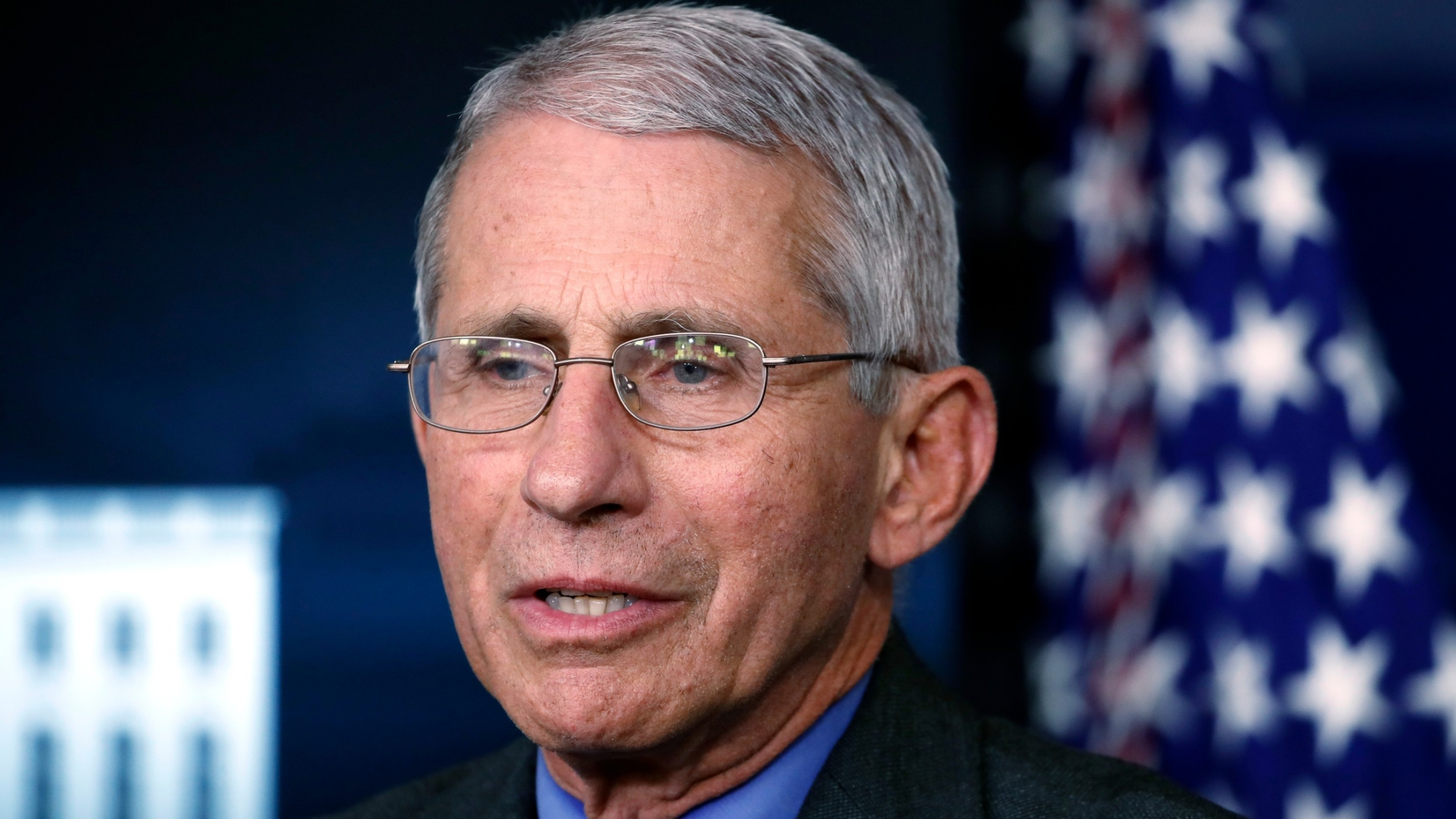 In this file photo, Dr. Anthony Fauci, director of the National Institute of Allergy and Infectious Diseases, speaks about the coronavirus in the press briefing room at the White House in Washington, April 13, 2020.