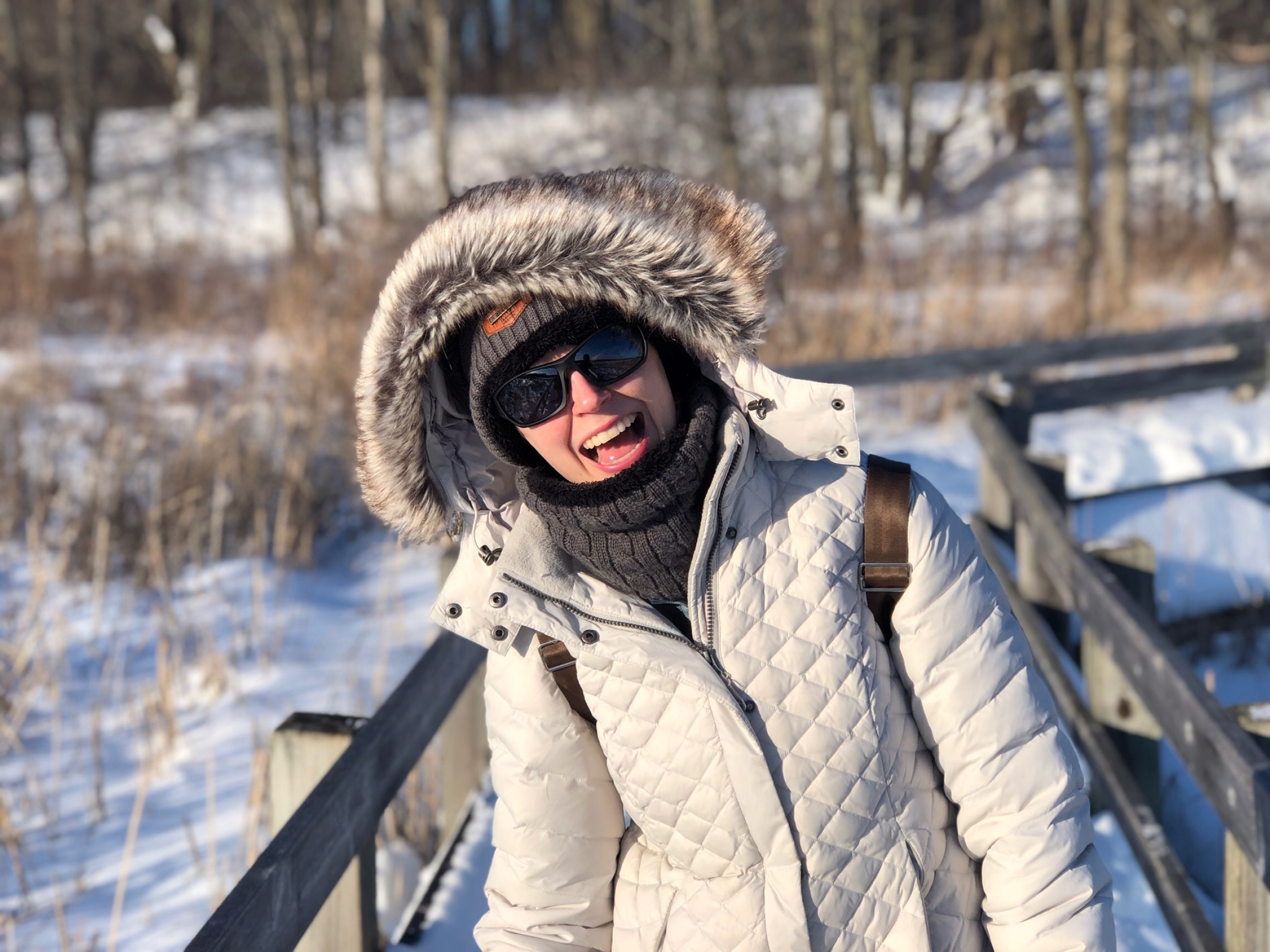 Erika Peterson, pictured in her first winter in Canada, left the US for Ottawa in 2018.