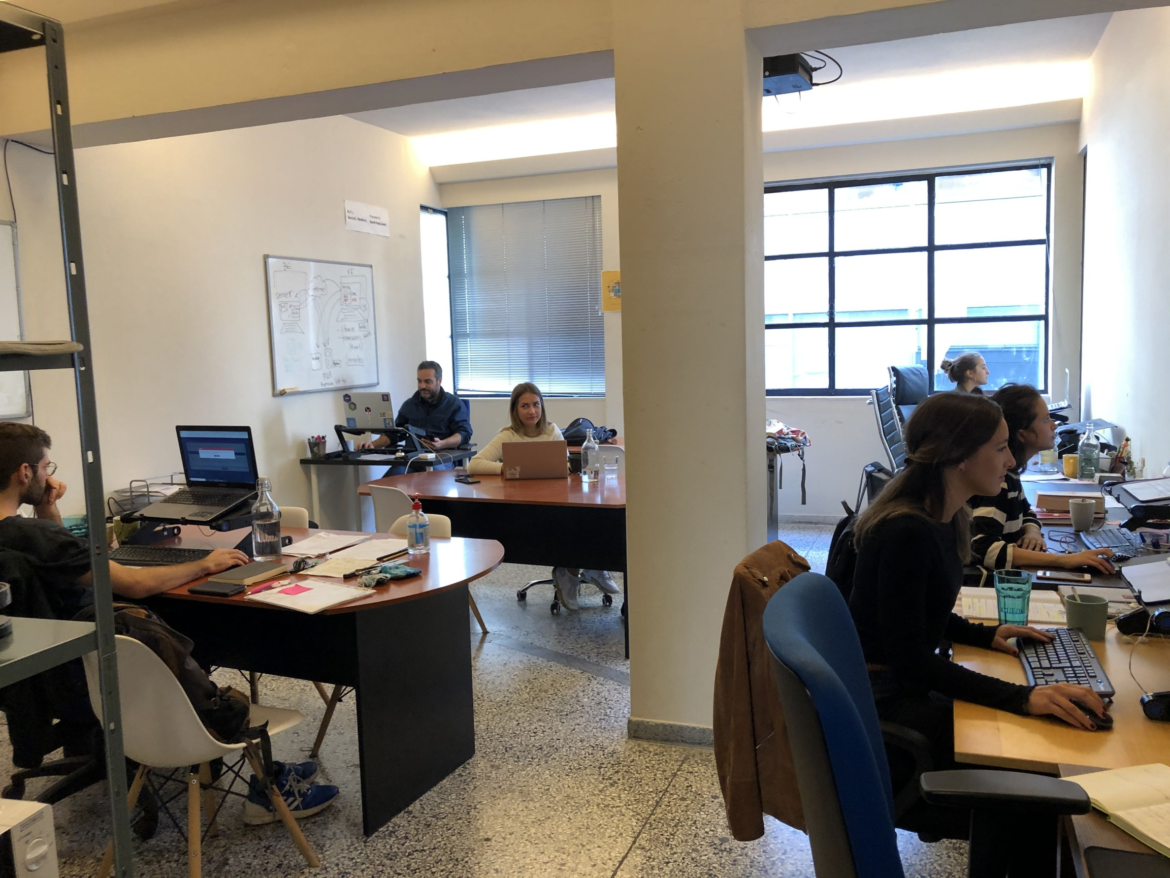 Social Hackers Academy runs its operations out of a co-working space in downtown Athens.