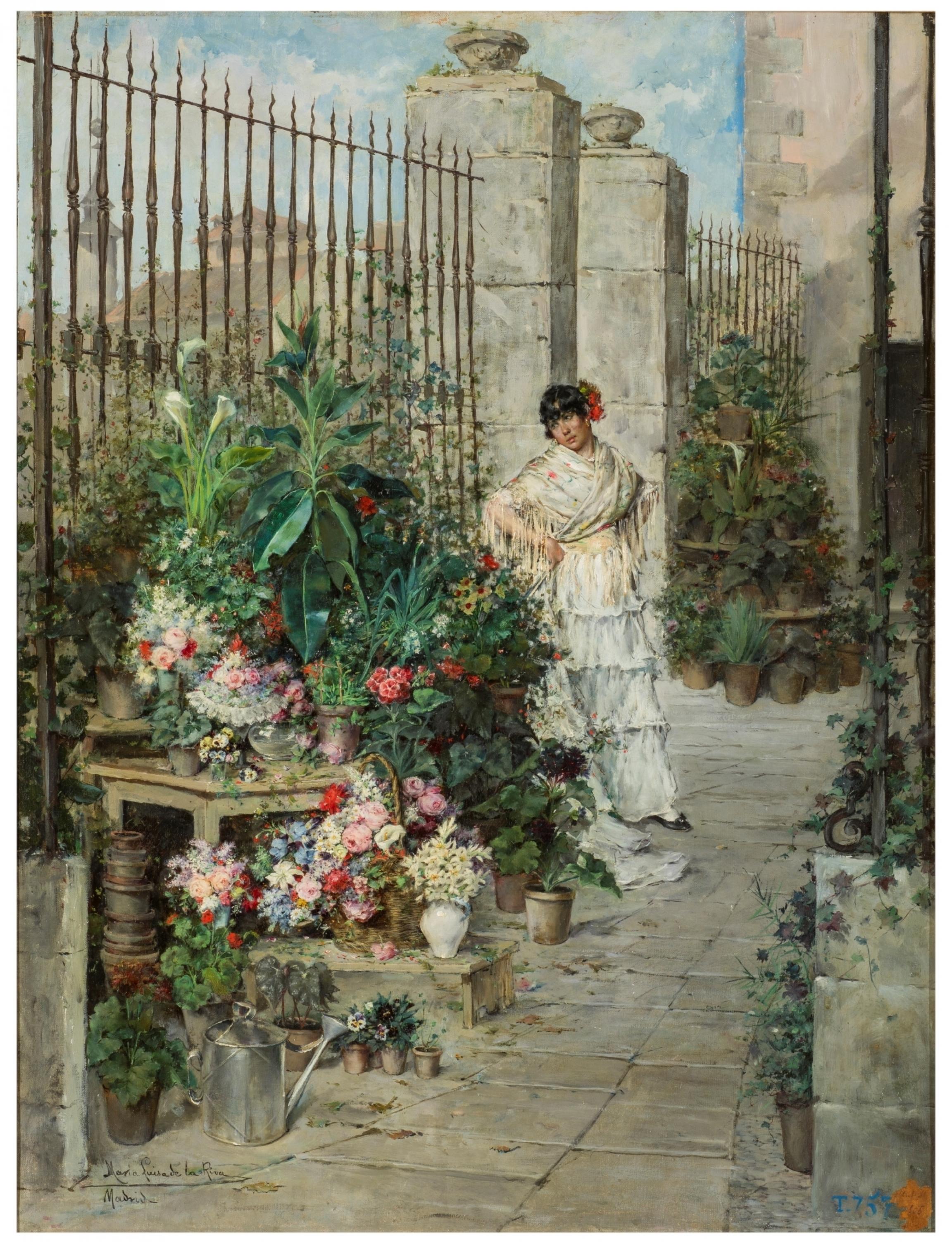 """""""Flower Stall,"""" MaríaLuisa de la Riva y Callol."""