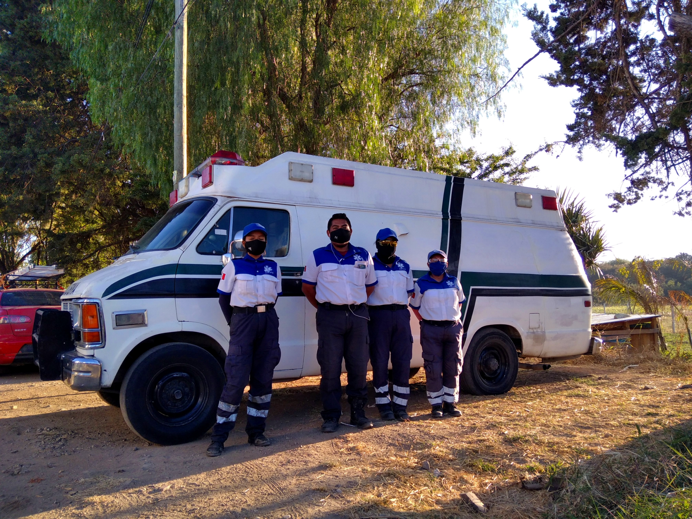 Josué Martínez and other members of the Brigadas ARVU volunteer paramedic crew park their ambulance by the side of the highway and ask for donations at stop lights when they're not responding to accidents or administering first aid.