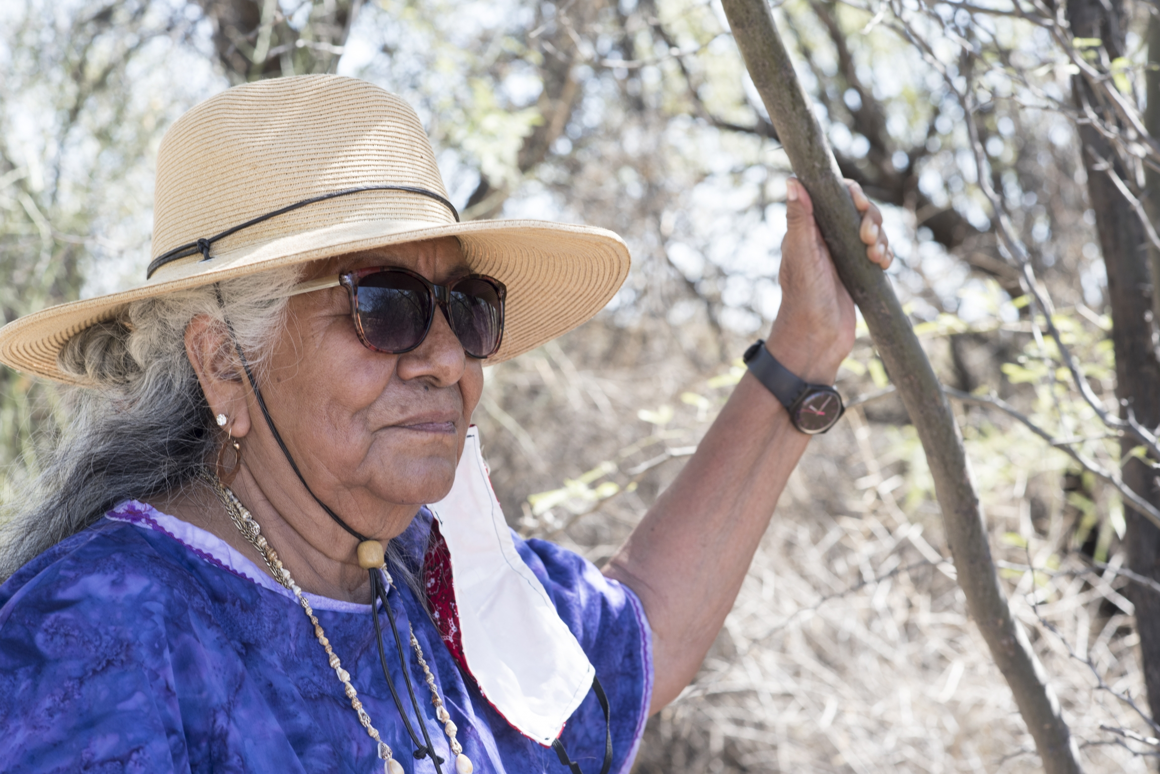 Lorraine Marquez Eiler's one of about 100 Hia-Ced O'odham tribal members who once lived in Darby Wells, a village a little over 30 miles north of the Arizona-Mexico border. Nobody lives there anymore.