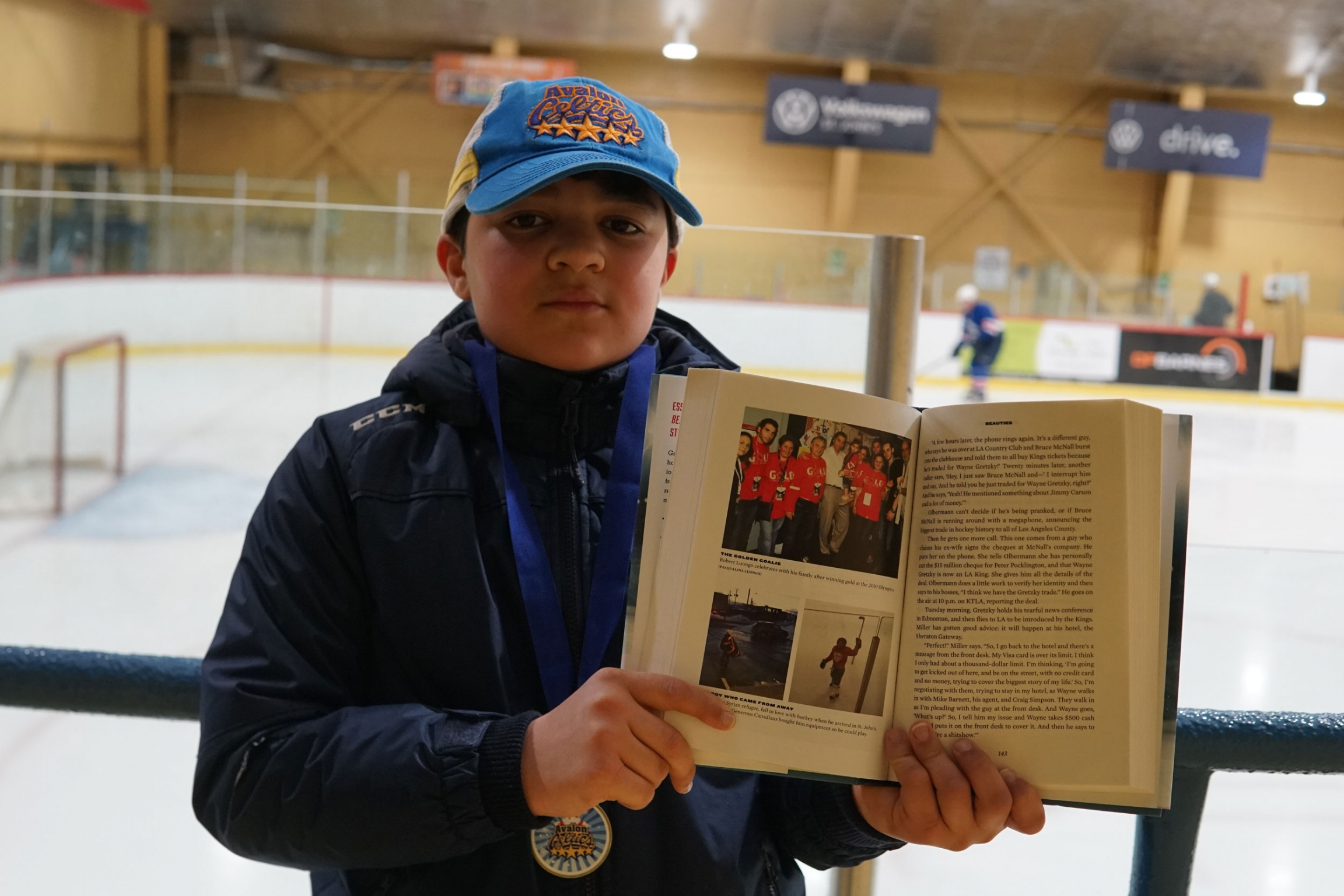 TSN broadcaster James Duthie dedicated a chapter of his latest book to Yamen Bai and his story of joining hockey in Canada.