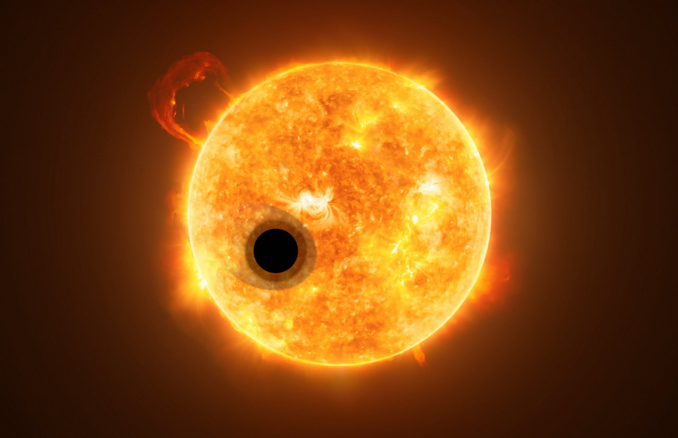 Exoplanet WASP-107b is a gas giant, orbiting a highly active K-type main sequence star. The star is about 200 light-years from Earth.